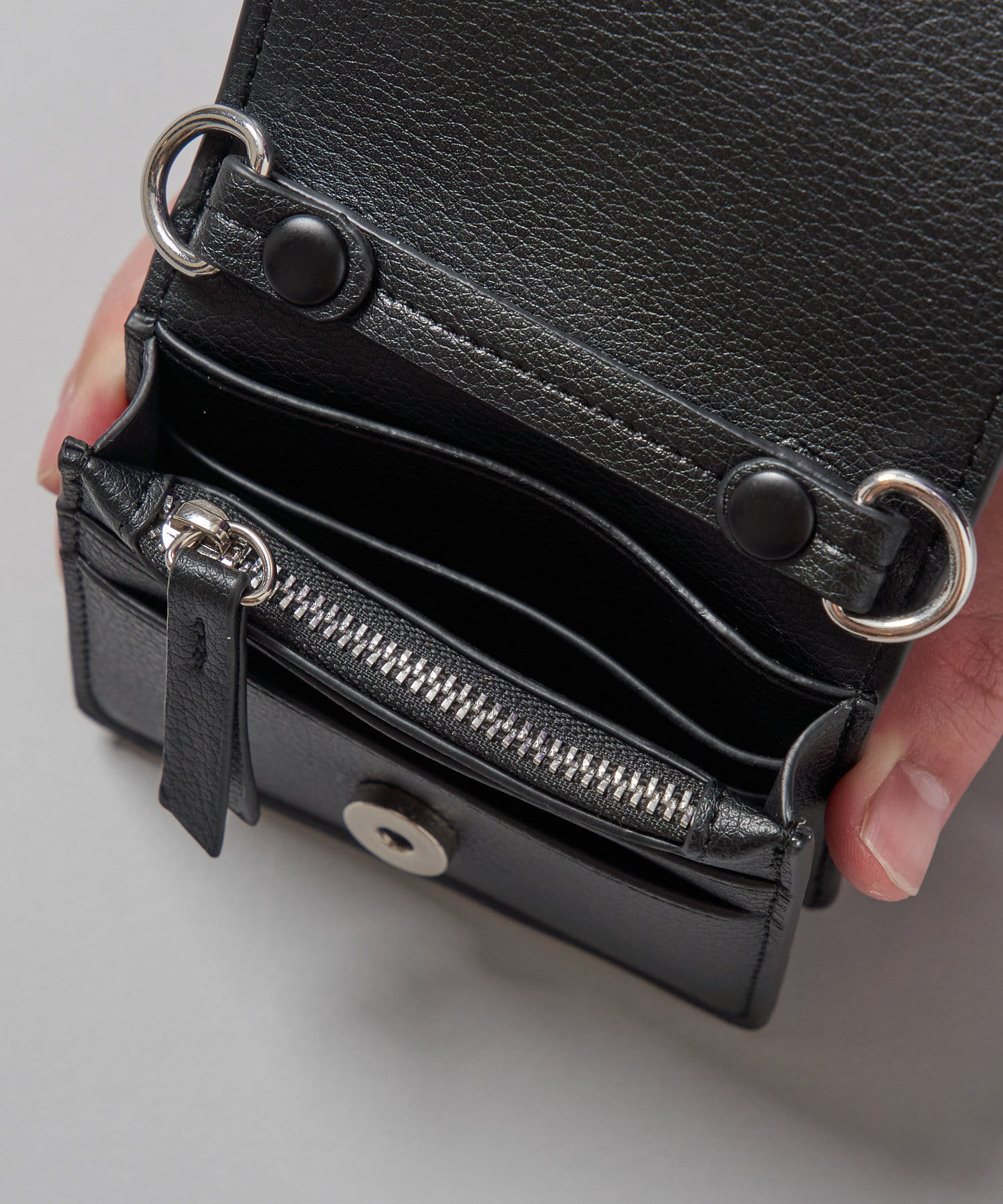 OUTLET(アウトレット) 【Ciaopanic】3WAYチェーン付きレザーバッグ/ミニ財布/カードケース
