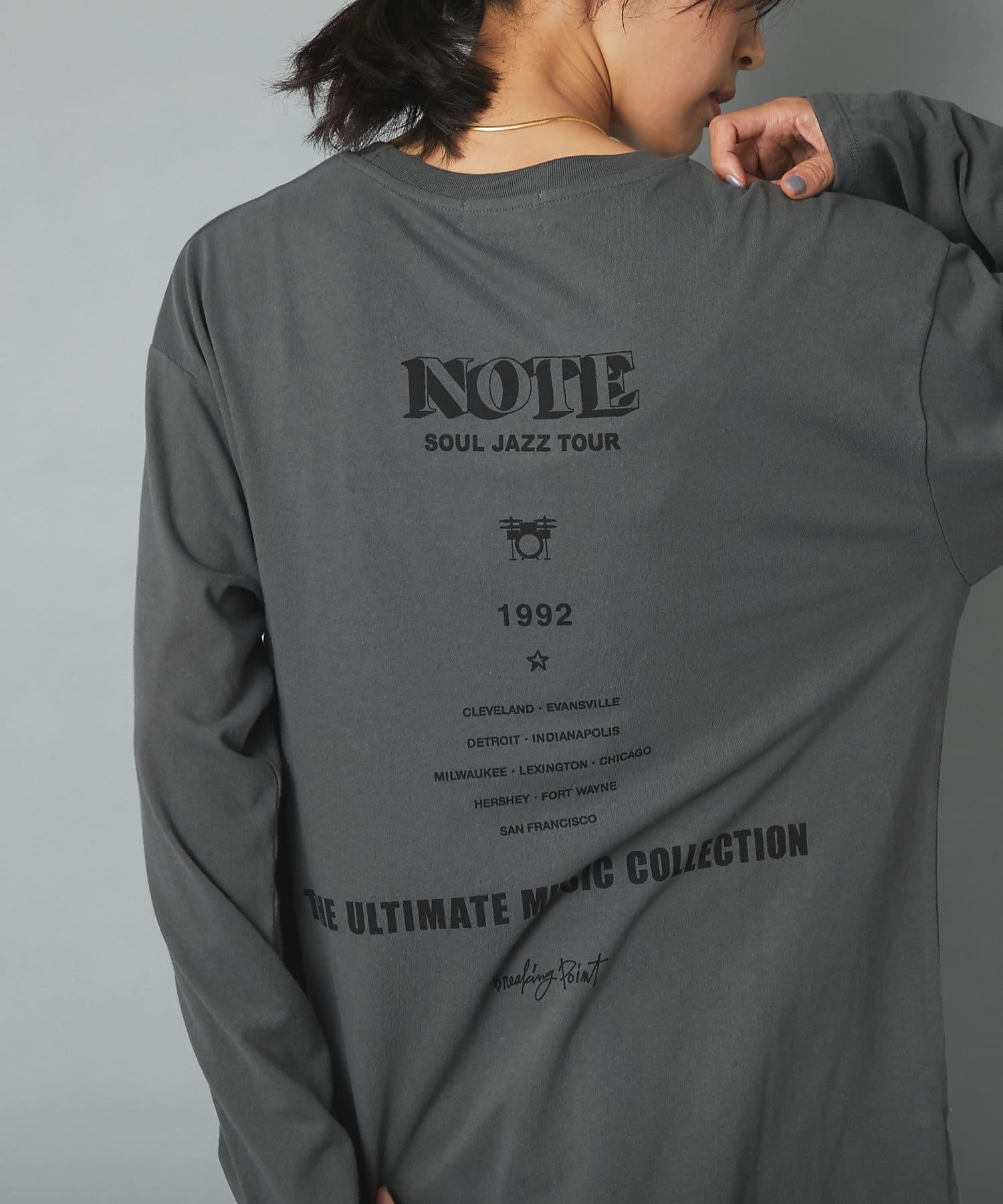 RIVE DROITE(リヴドロワ) 【一枚でサマになる】JAZZTOURロンT