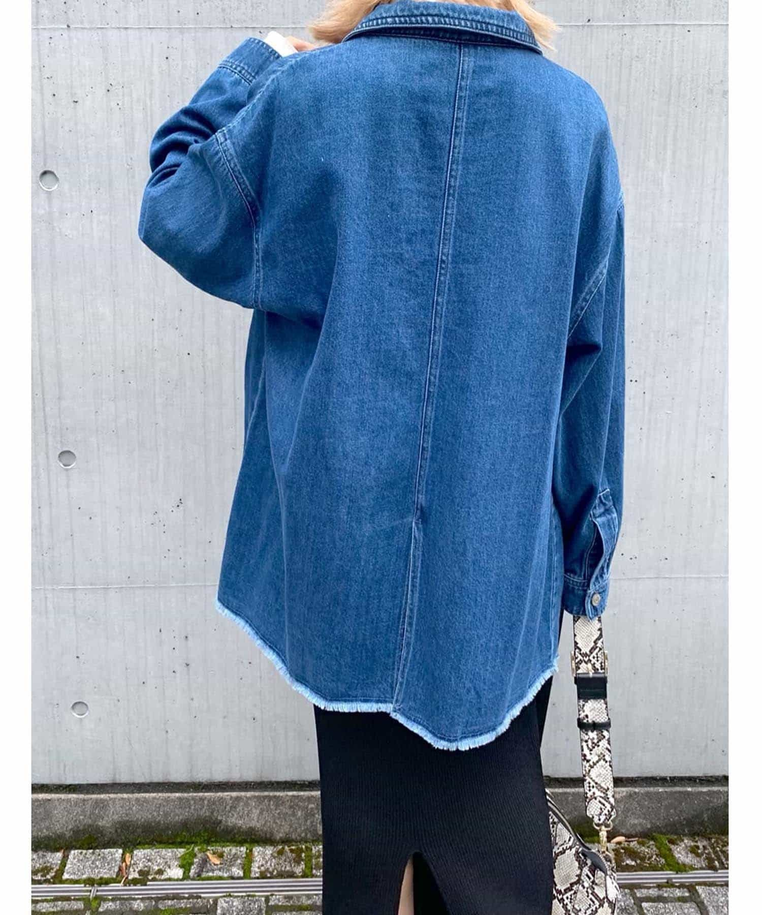 RIVE DROITE(リヴドロワ) 【ざっくり羽織るだけでこなれた印象に】ディティールデニムジャケット