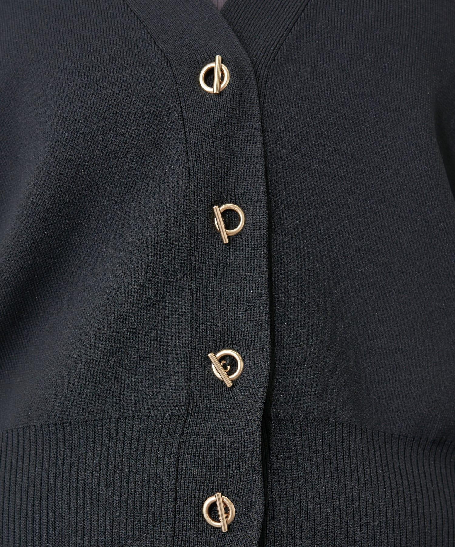 natural couture(ナチュラルクチュール) プチプラハトメバー釦おしゃれカーデ