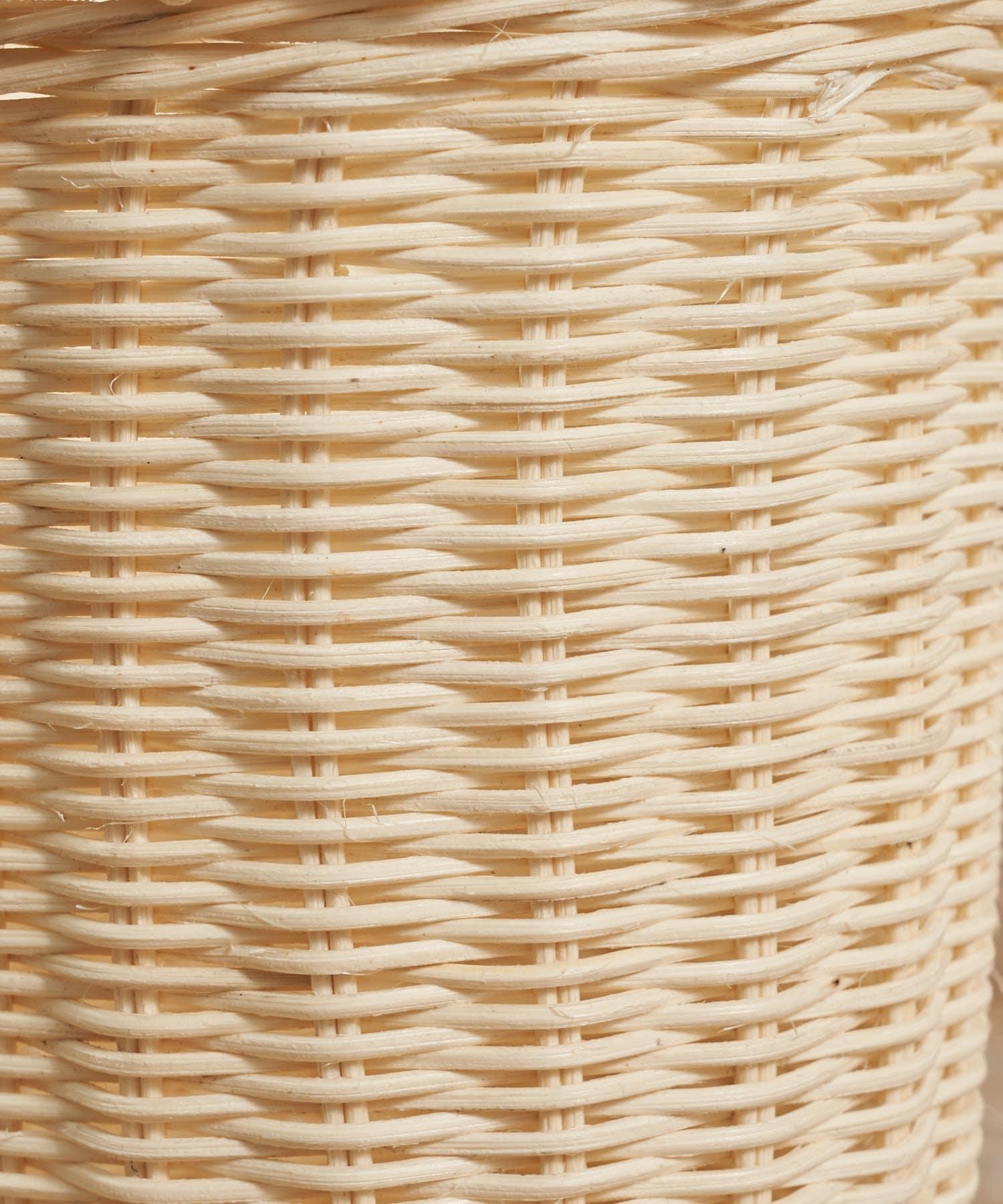 salut!(サリュ) 【shabby white】ホワイトラタンバケツバスケット