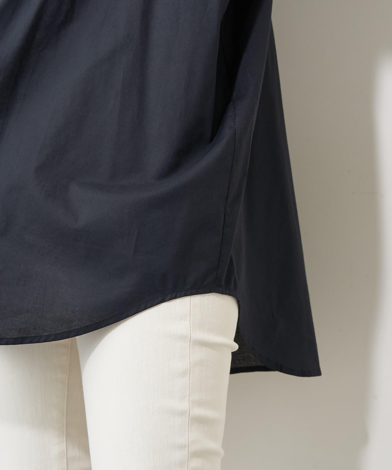 natural couture(ナチュラルクチュール) ヨークピンタック×レースコットンチュニック