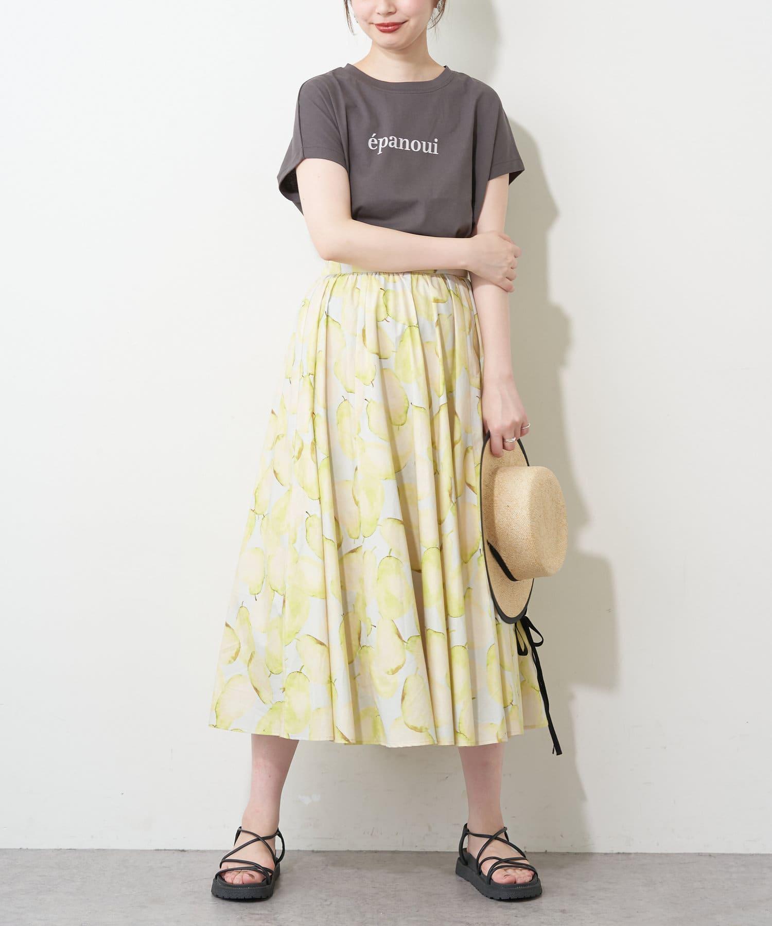 natural couture(ナチュラルクチュール) 厚手 e panoui ロゴT