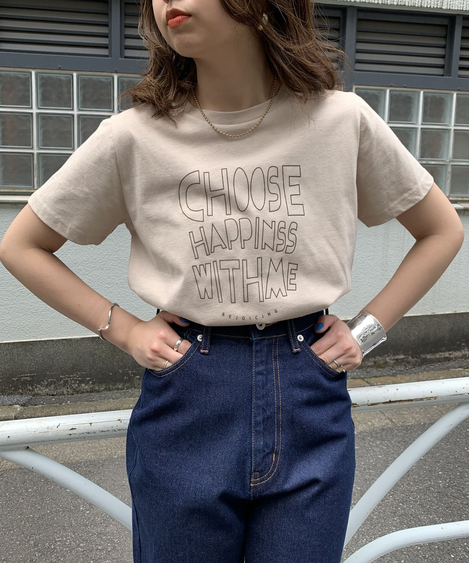 natural couture(ナチュラルクチュール) 【WEB限定】ポップなクレイジーロゴT