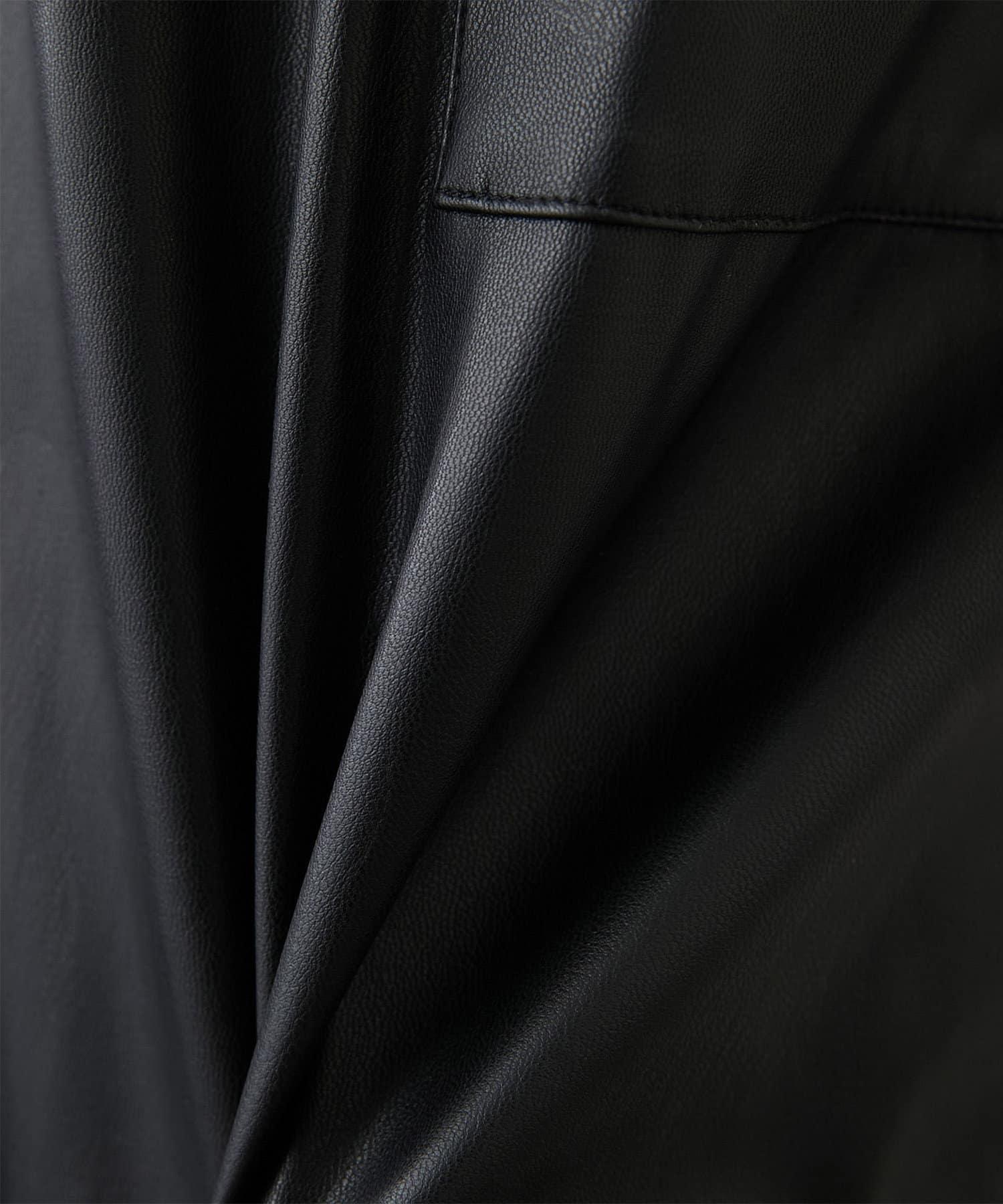 GALLARDAGALANTE(ガリャルダガランテ) フェイクレザーハーフパンツ【オンラインストア限定商品】