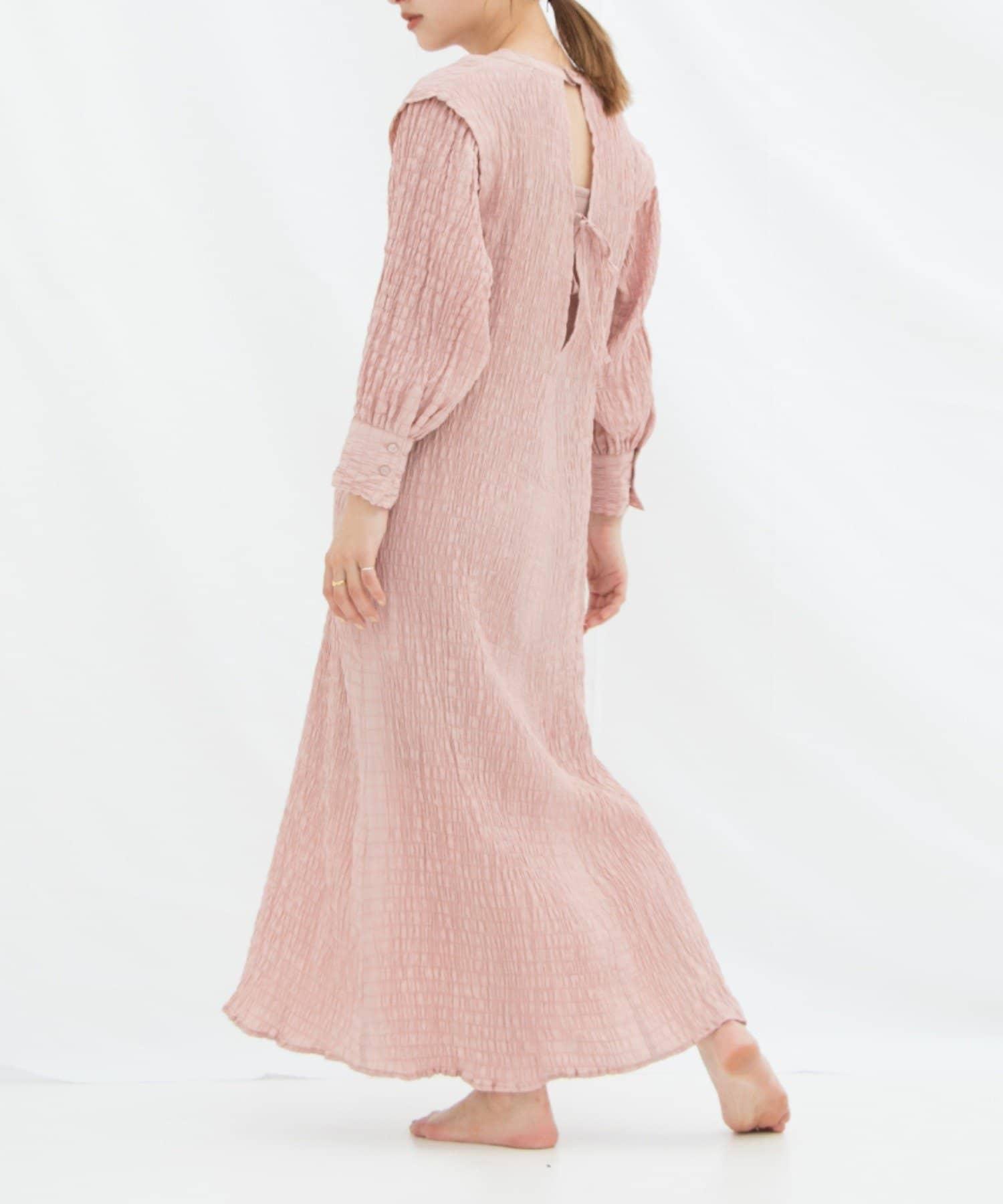 OUTLET(アウトレット) レディース 【Kastane】イージーシャーリングドレス  (ペチキャミ付き) ピンク