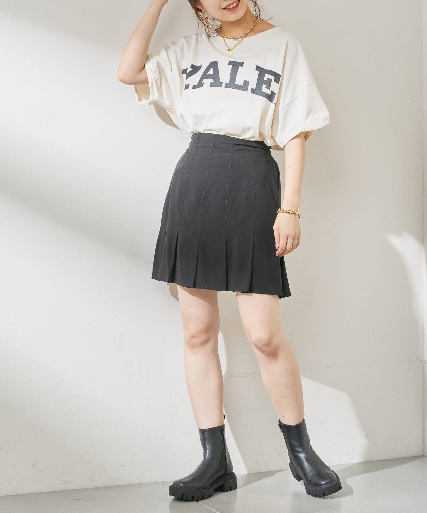 who's who Chico(フーズフーチコ) 【SET UP対応】裾プリーツミニスカート