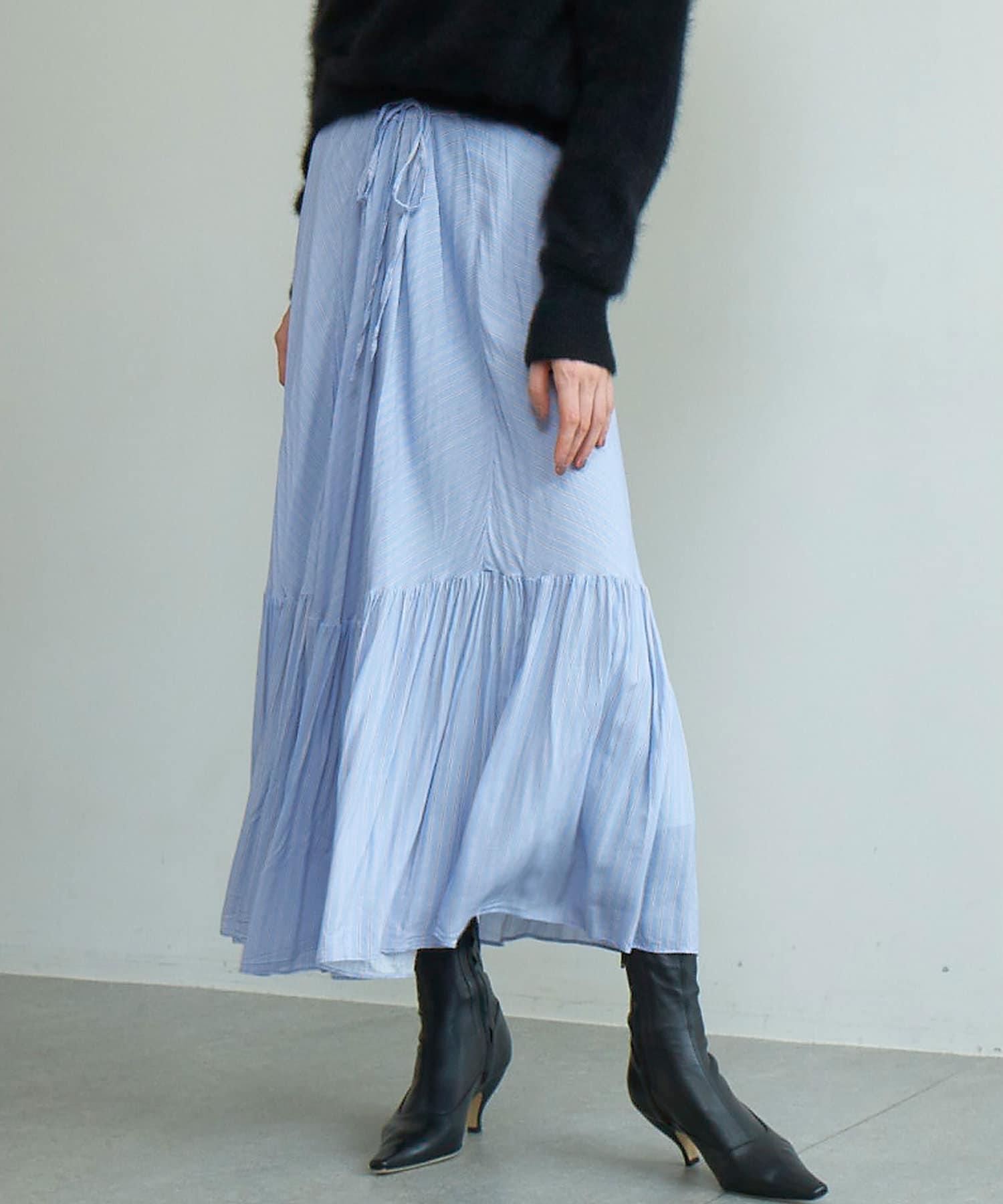 GALLARDAGALANTE(ガリャルダガランテ) ストライプティアードスカート