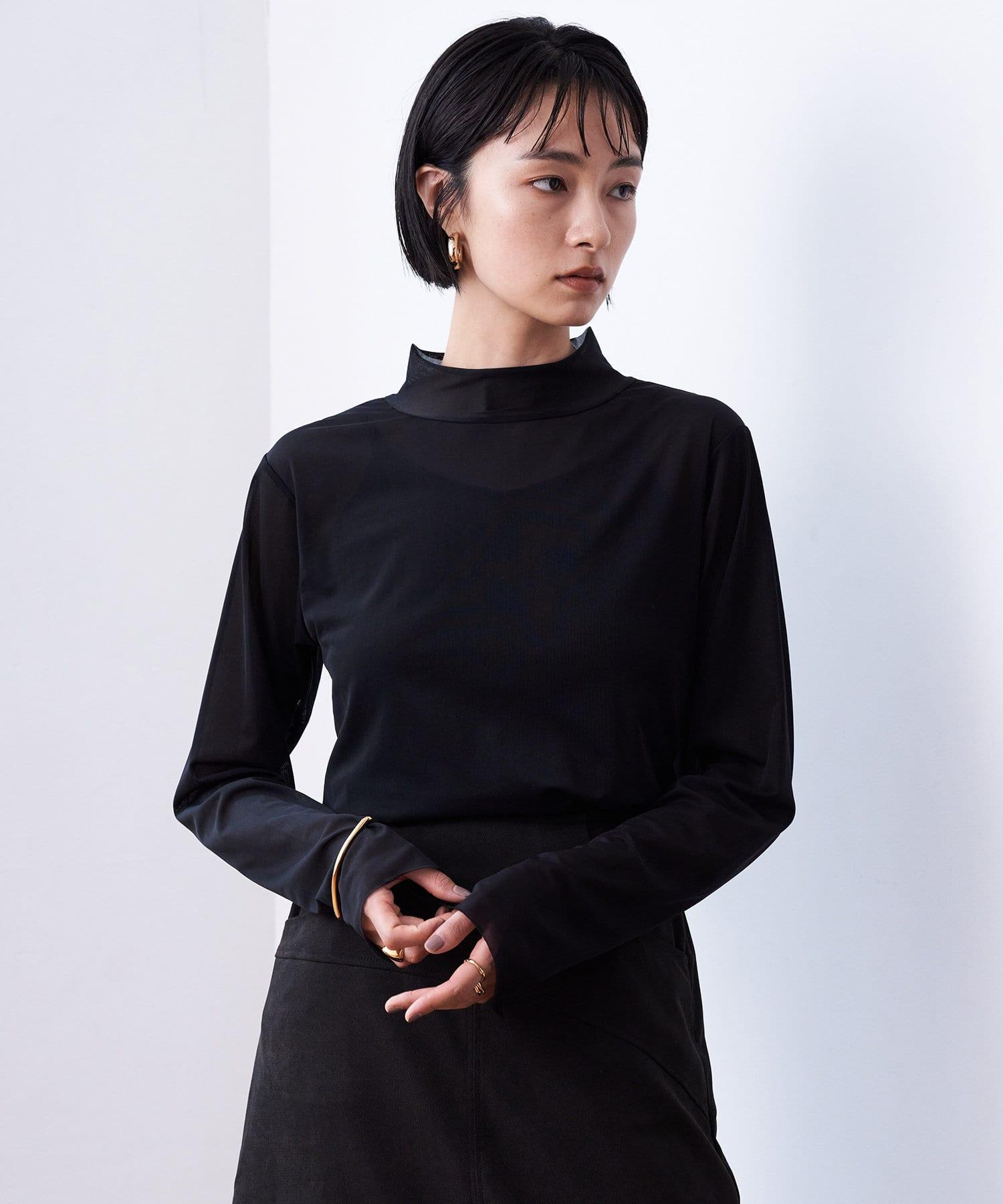 Loungedress(ラウンジドレス) レディース 【odore/オドル】シアータートルプルオーバー ブラック