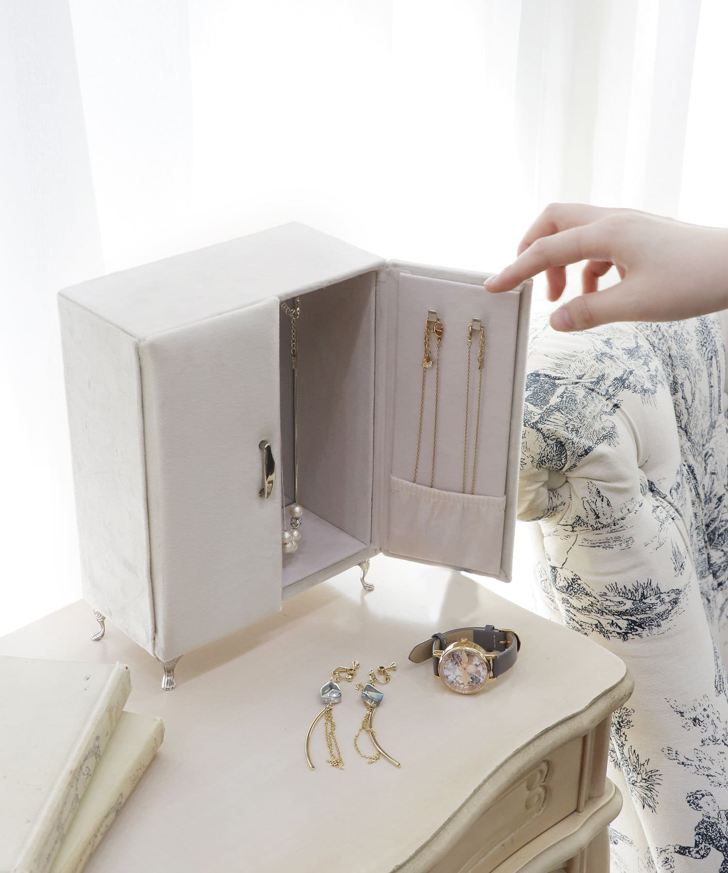 ASOKO(アソコ) 【動画あり】【WEB限定】家具風クローゼットジュエリーBOX