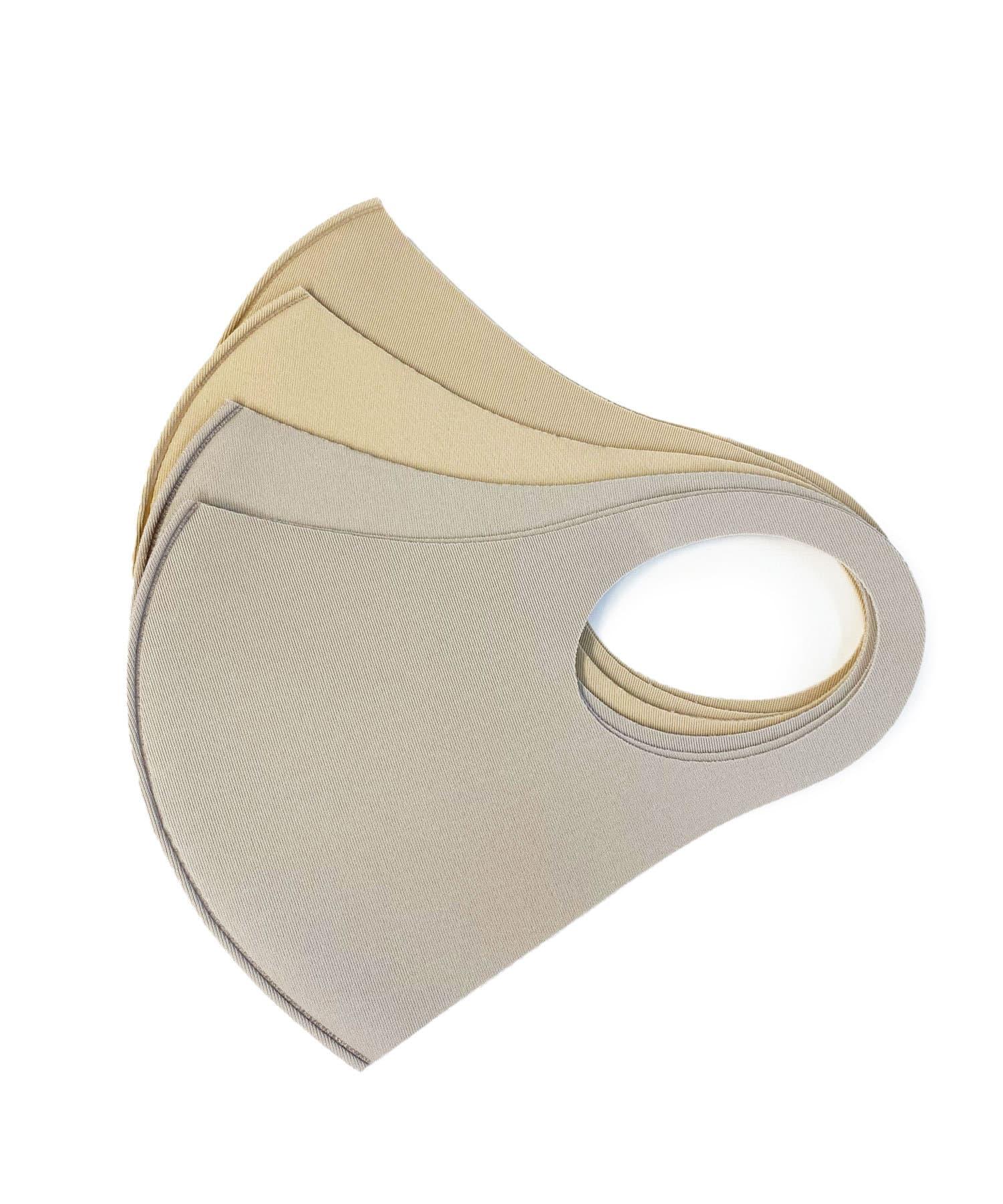 Lattice(ラティス) レディース 《ニュアンスカラー冷感抗菌マスク》4枚SET(小さめイズ) ベージュ