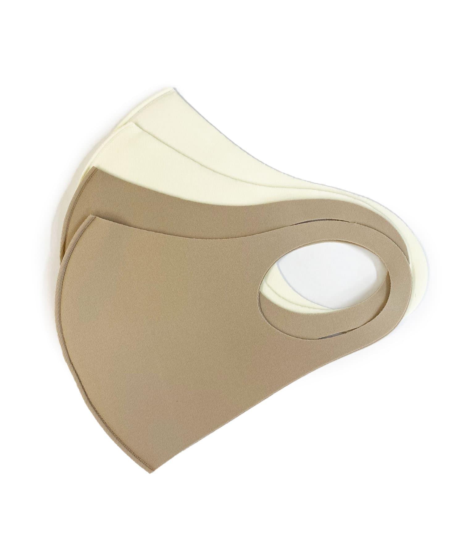 Lattice(ラティス) レディース 《ニュアンスカラー冷感抗菌マスク》4枚SET(小さめイズ) その他