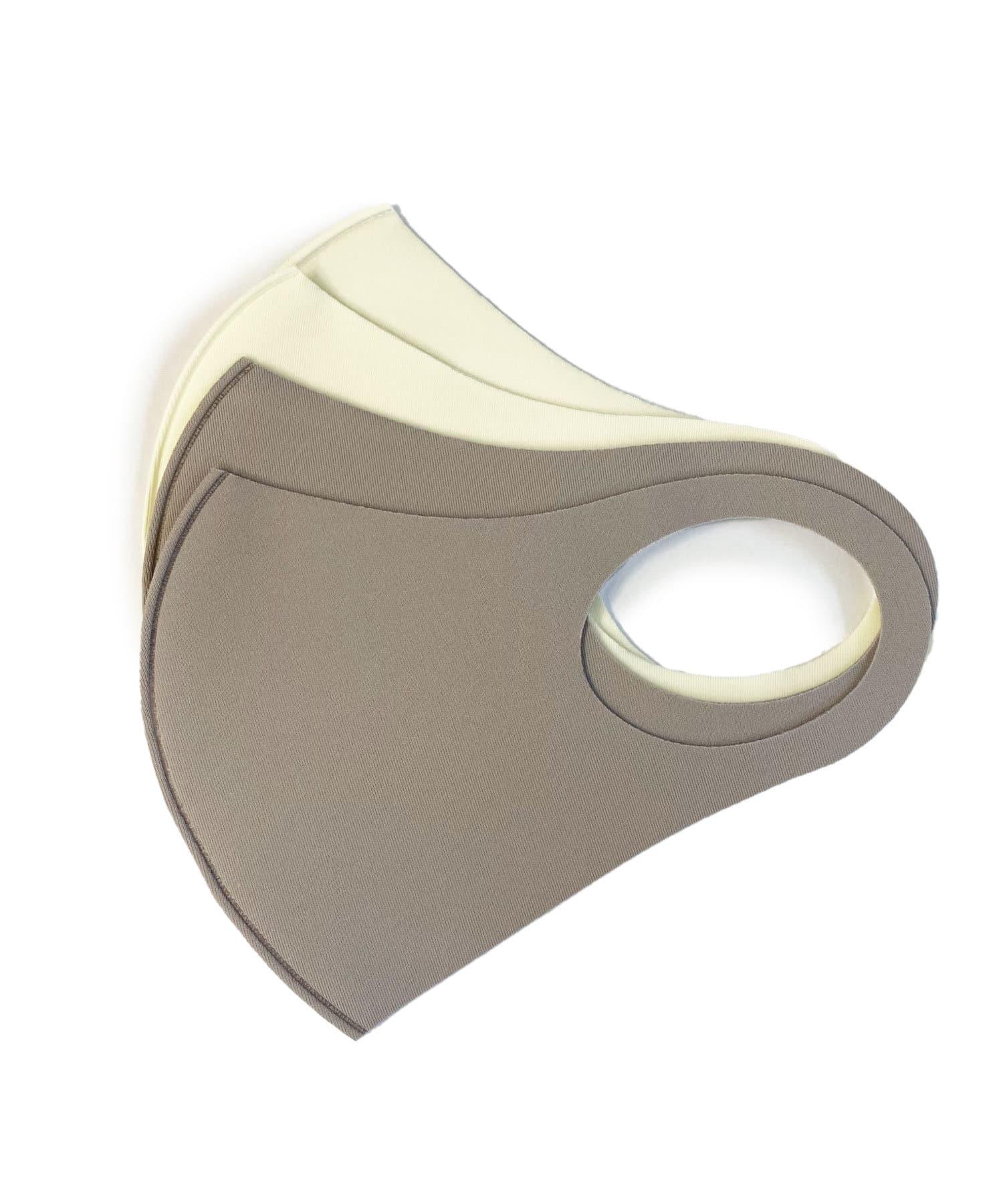 Lattice(ラティス) レディース 《ニュアンスカラー冷感抗菌マスク》4枚SET(小さめイズ) グレー