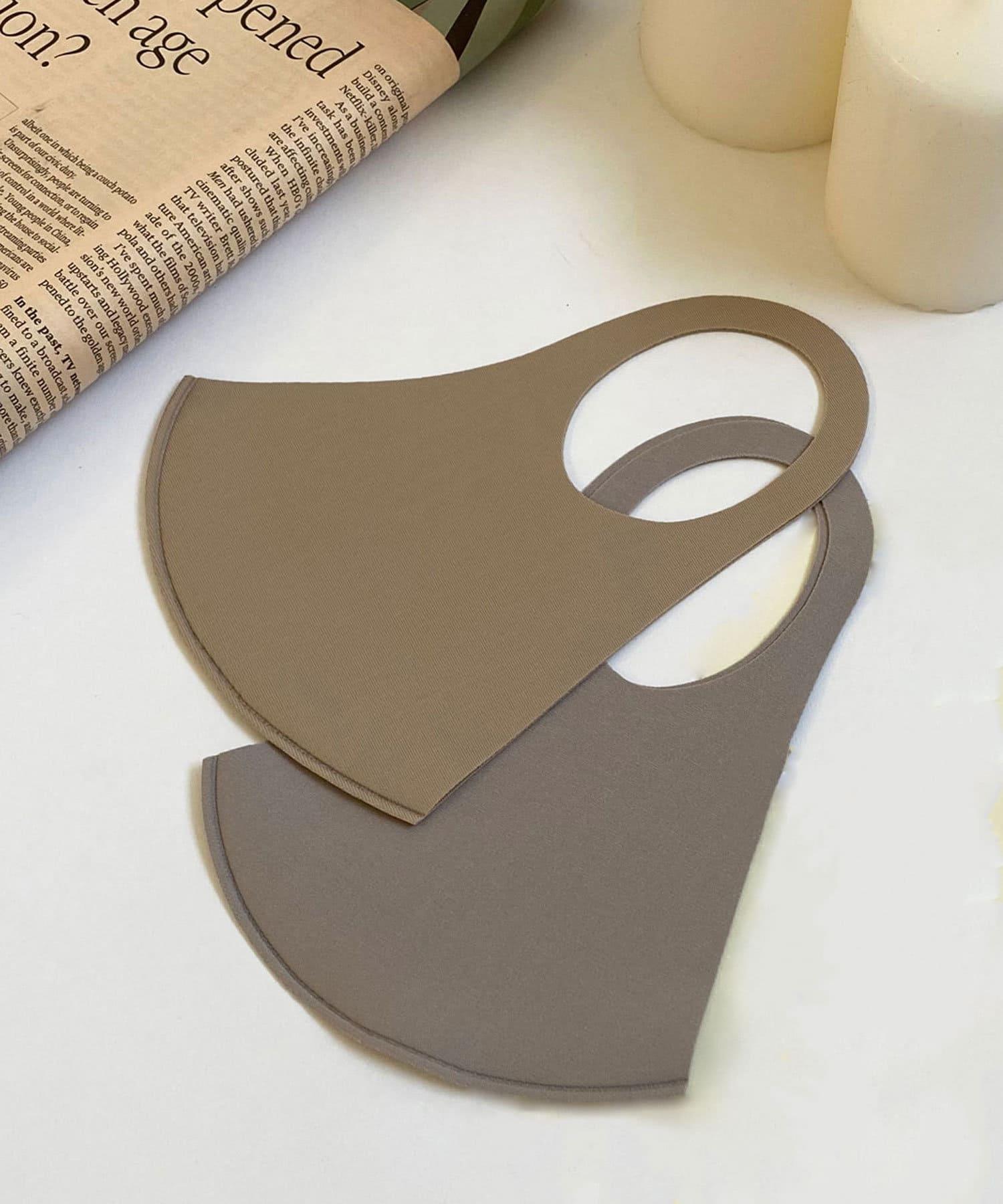 Lattice(ラティス) レディース 《ニュアンスカラー冷感抗菌マスク》4枚SET(大人用サイズ) ベージュ