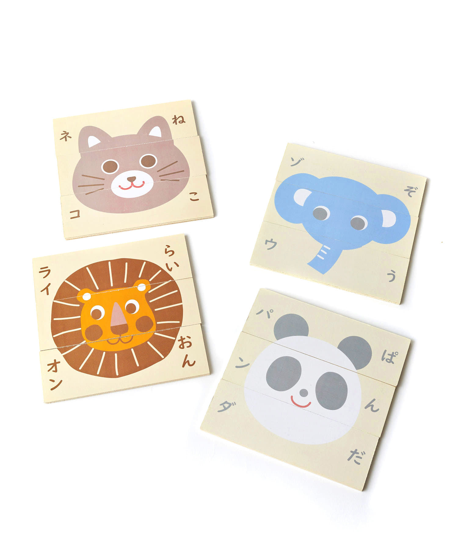 3COINS(スリーコインズ) 【楽しく学ぼう】絵合わせパズル:4枚入り