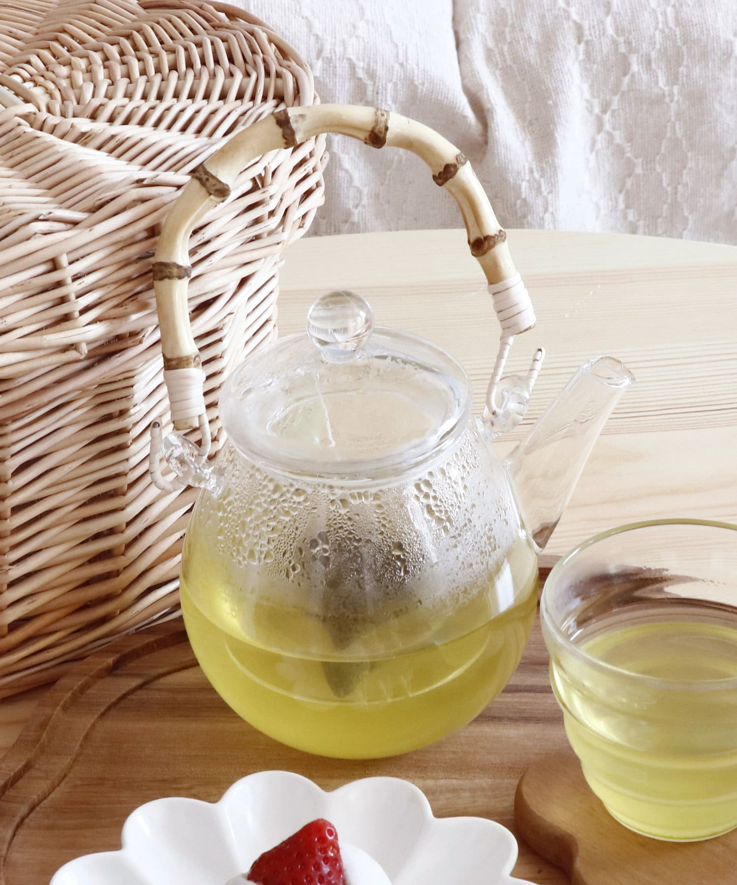 salut!(サリュ) ライフスタイル 【お茶とお花】竹取っ手耐熱ガラスポット その他