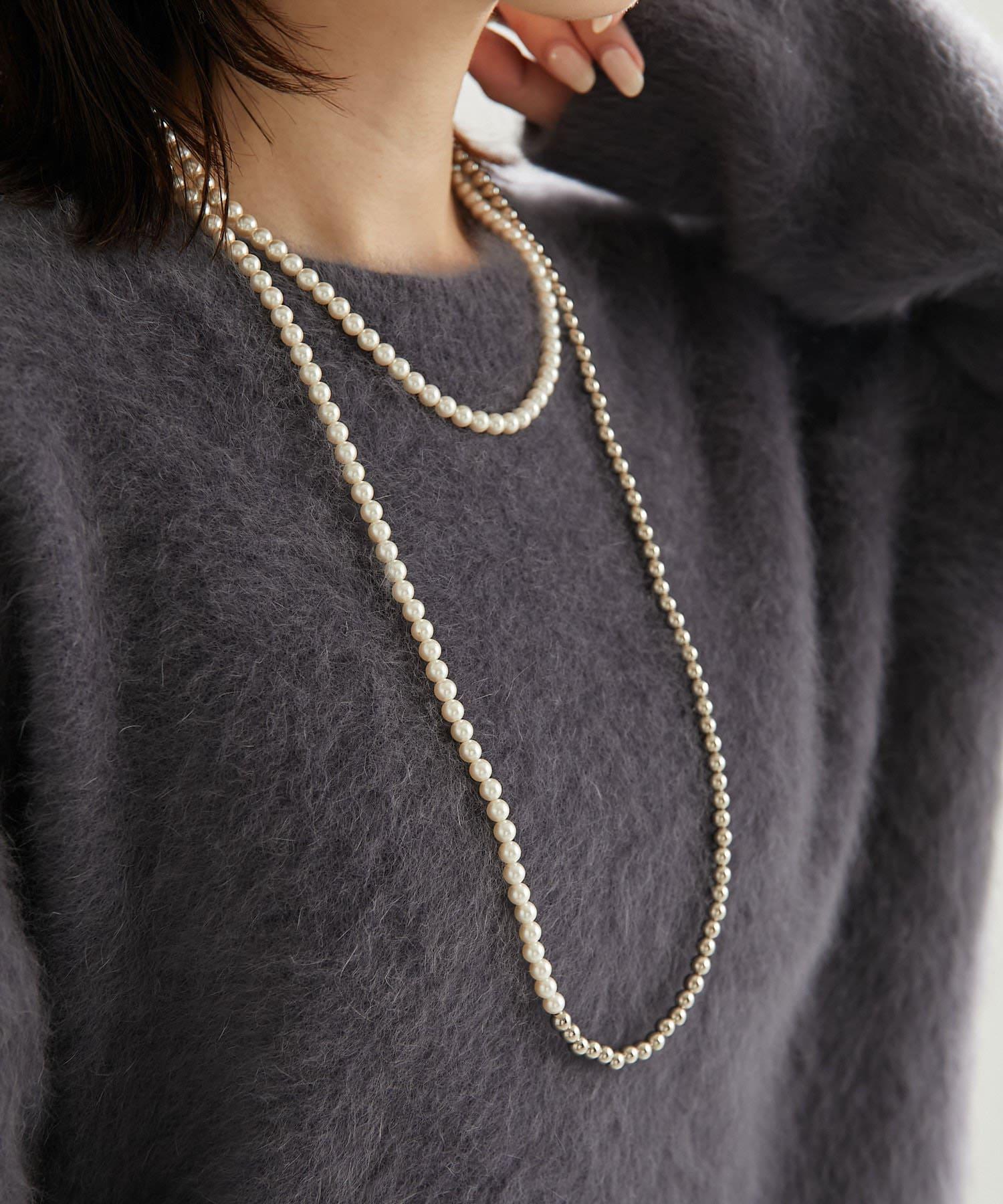 COLLAGE GALLARDAGALANTE(コラージュ ガリャルダガランテ) 【PAPILLONNER/パピヨネ】パールロングネックレス
