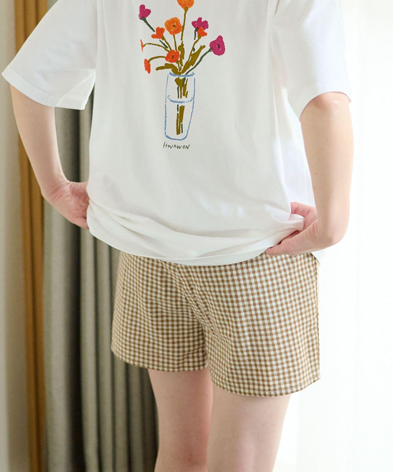 Lattice(ラティス) 【可愛く過ごすおうち時間】チェック柄ショートパンツ