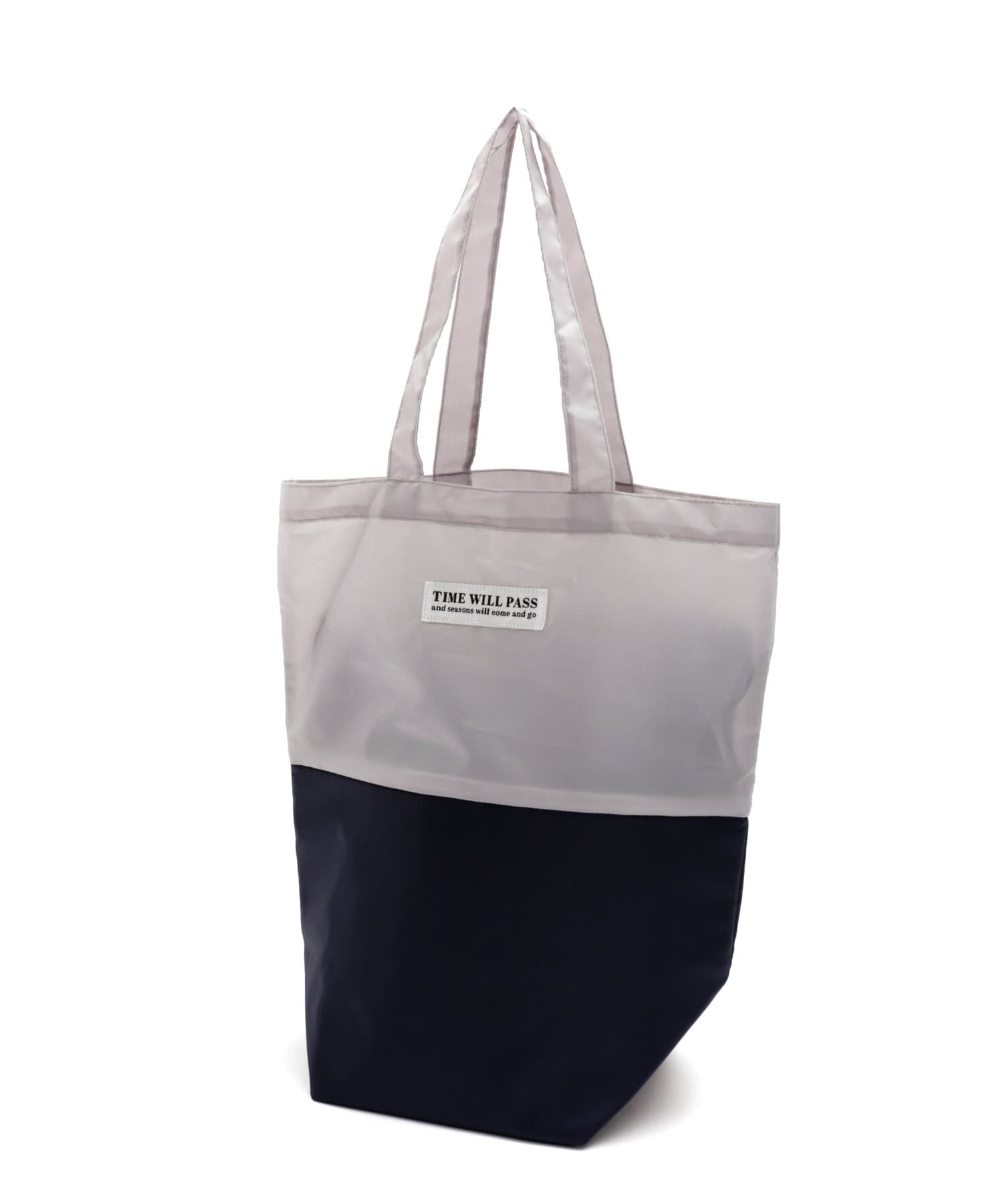 3COINS(スリーコインズ) ライフスタイル 【目的に合わせて機能いろいろ】2段バッグ:底アルミ付き グレー
