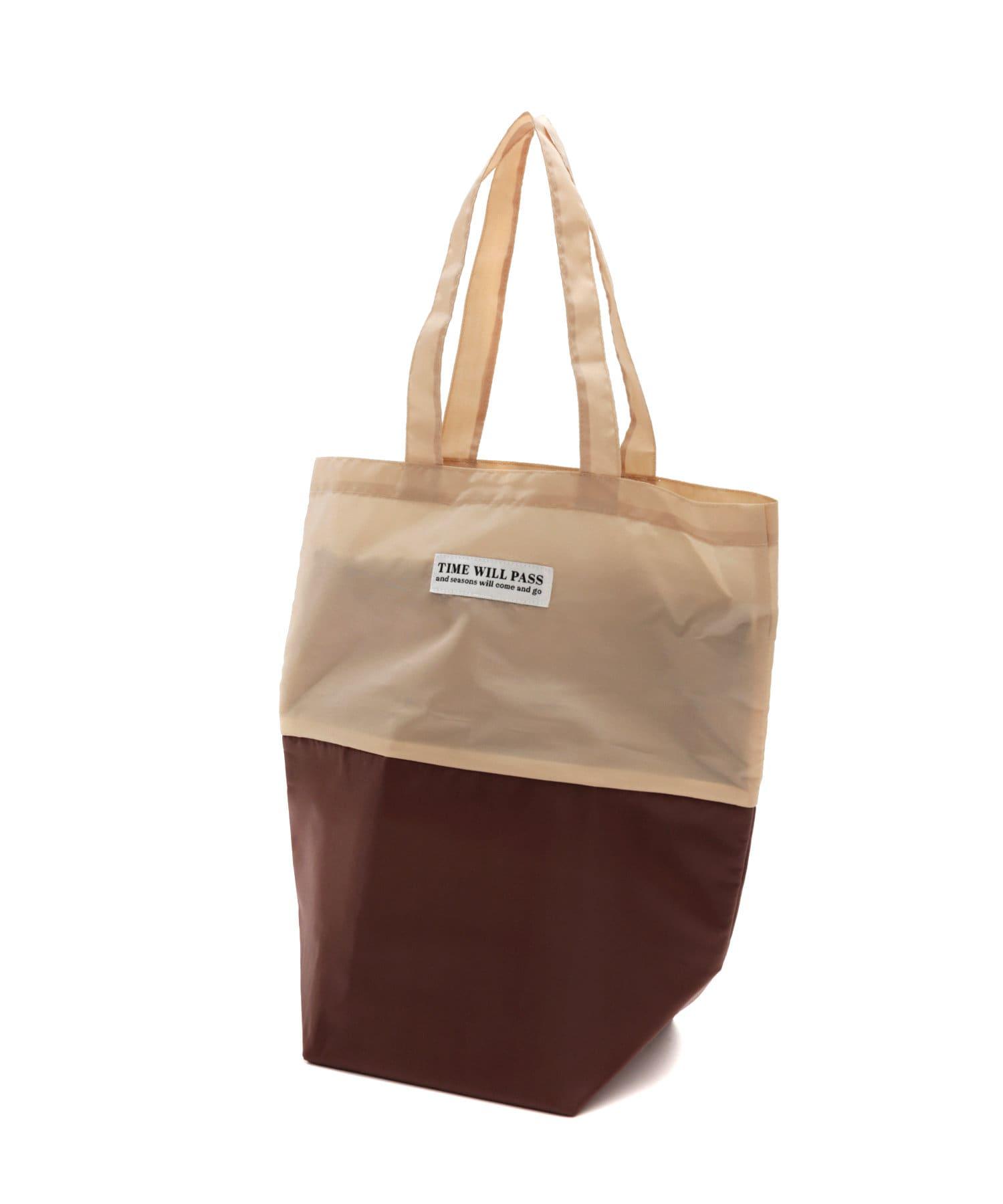 3COINS(スリーコインズ) ライフスタイル 【目的に合わせて機能いろいろ】2段バッグ:底アルミ付き ベージュ