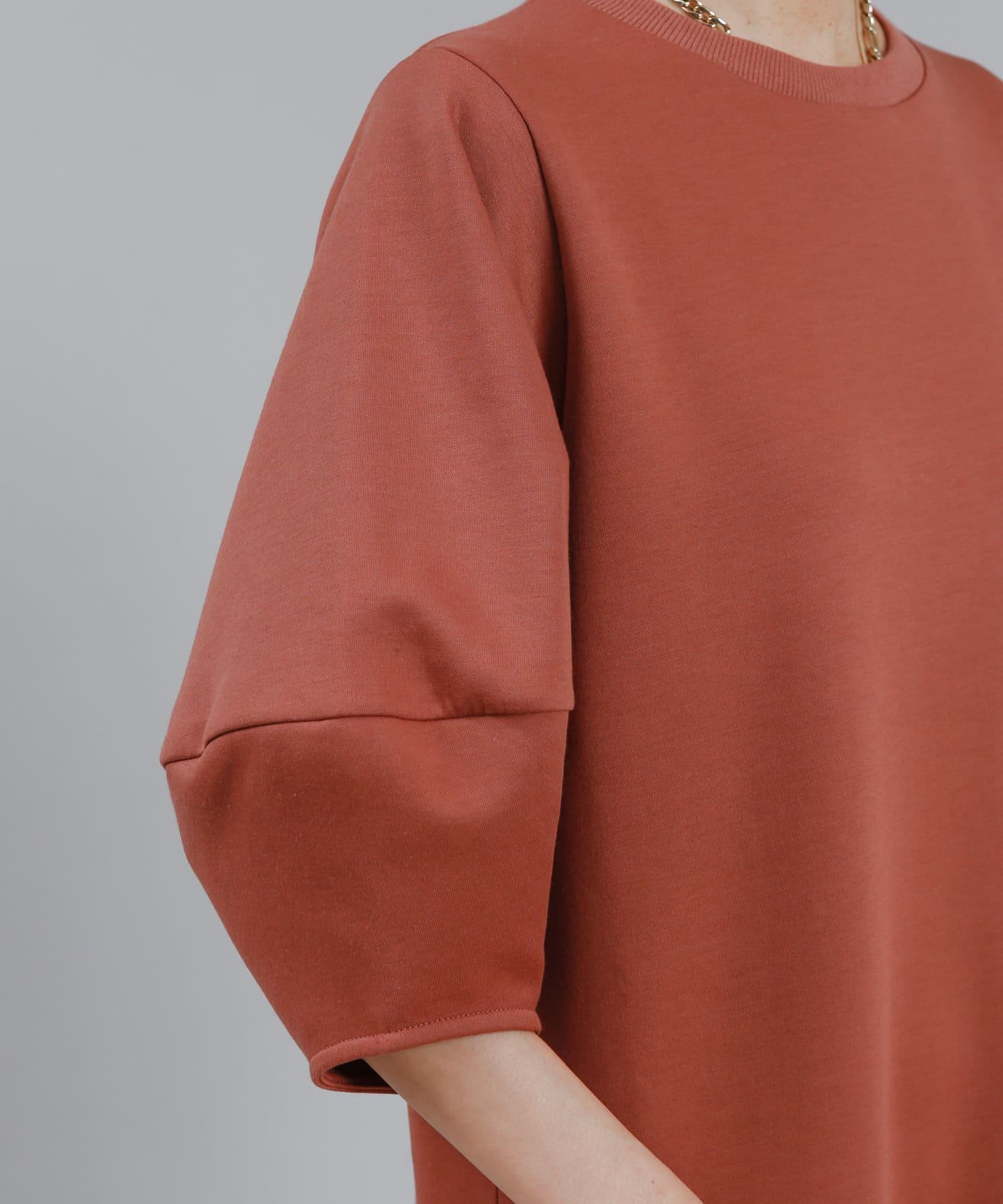 DOUDOU(ドゥドゥ) 【WEB限定】バルーンスリーブ裾切替カットワンピース AW