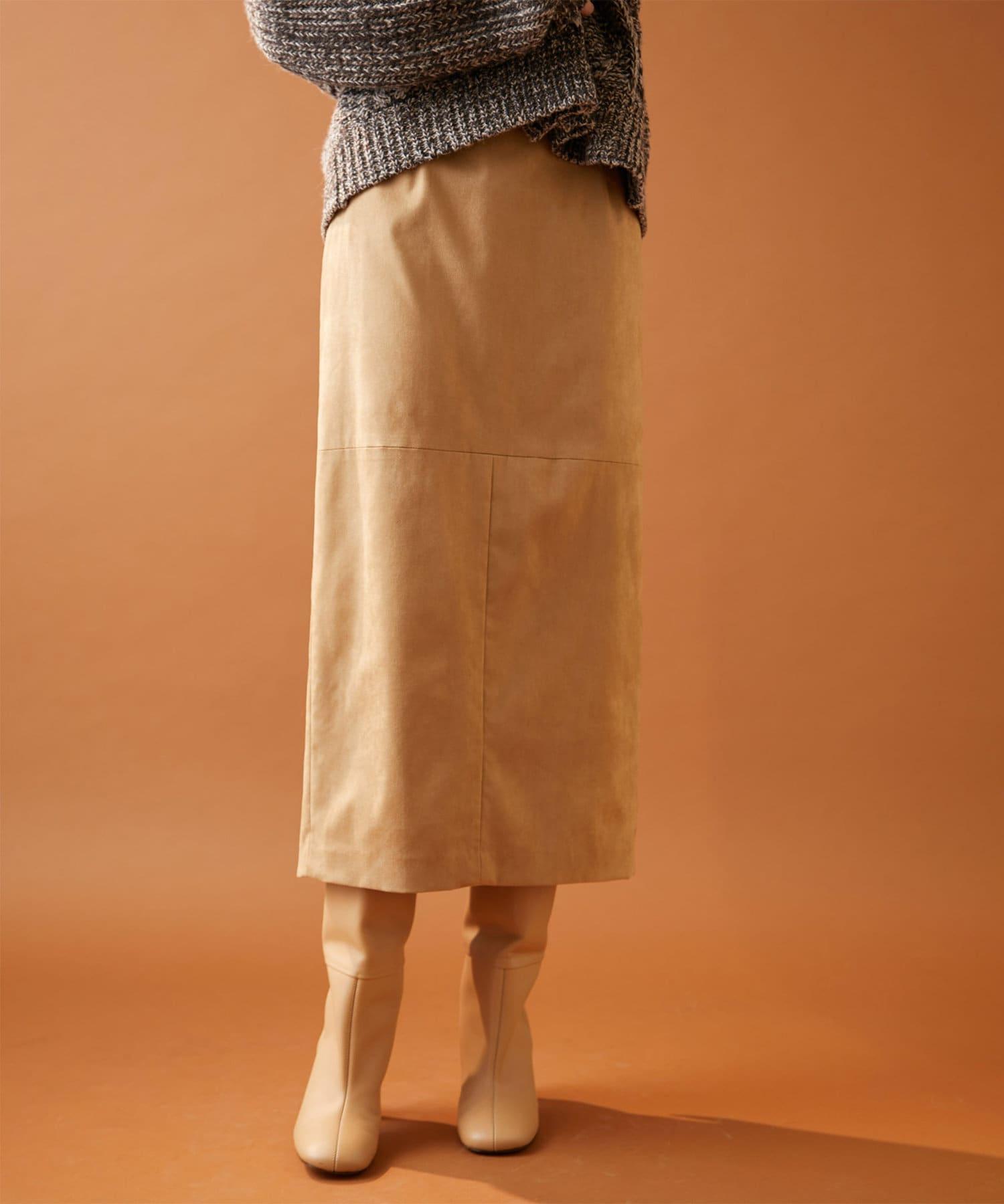 Whim Gazette(ウィム ガゼット) 《WEB限定》フェイクスエードタイトスカート