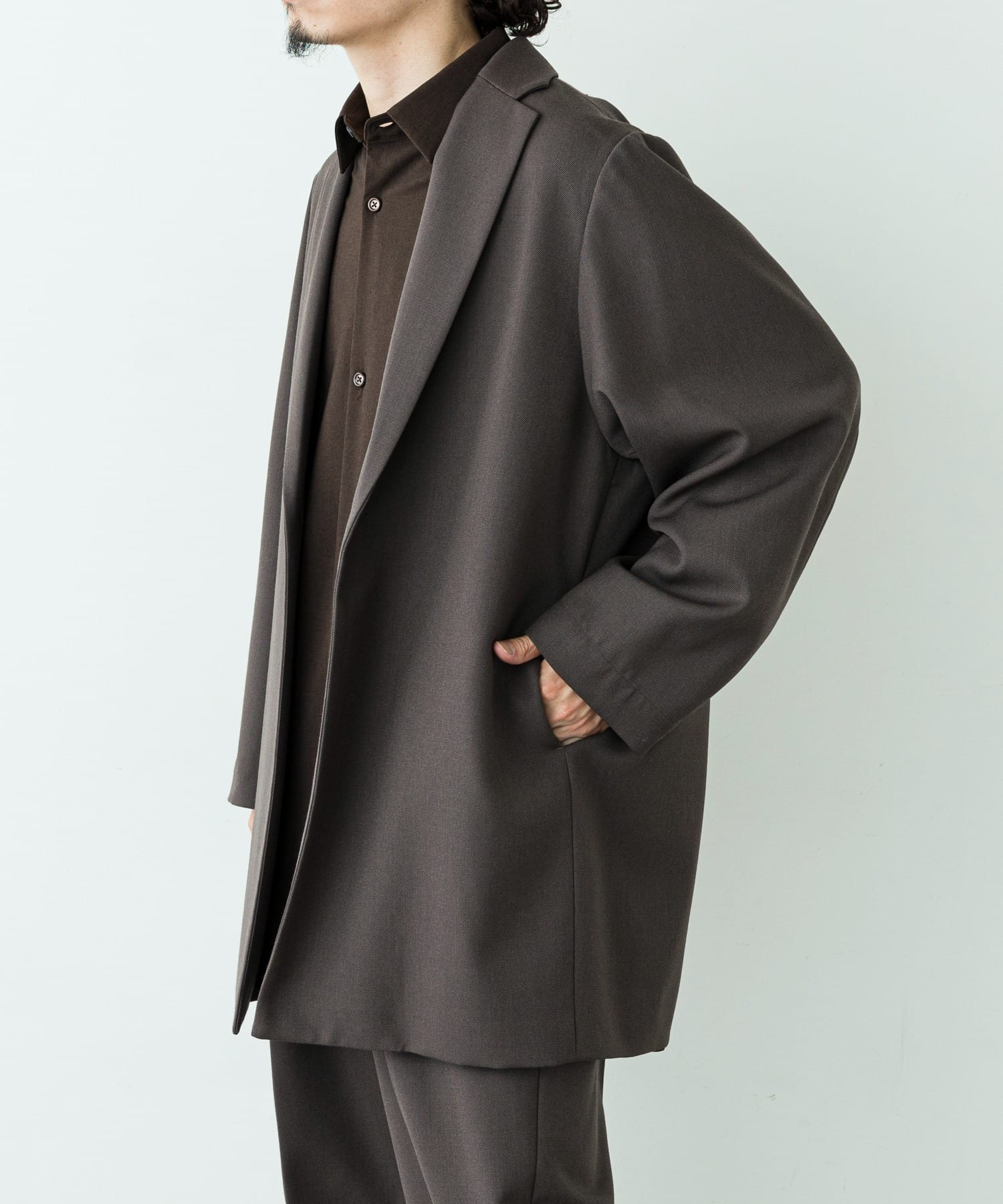 Lui's(ルイス) 【高密度ウールギャバ 2×2セットアップシリーズ】 スーパービッグジャケット