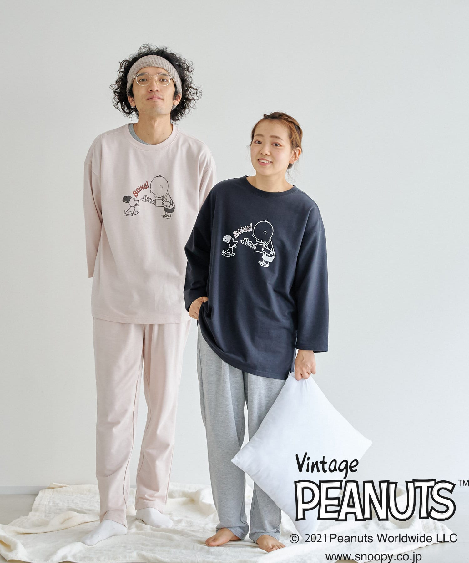 CPCM(シーピーシーエム) 【PEANUTS / ピーナッツ 】70TH8分袖セットアップ ルームウェア