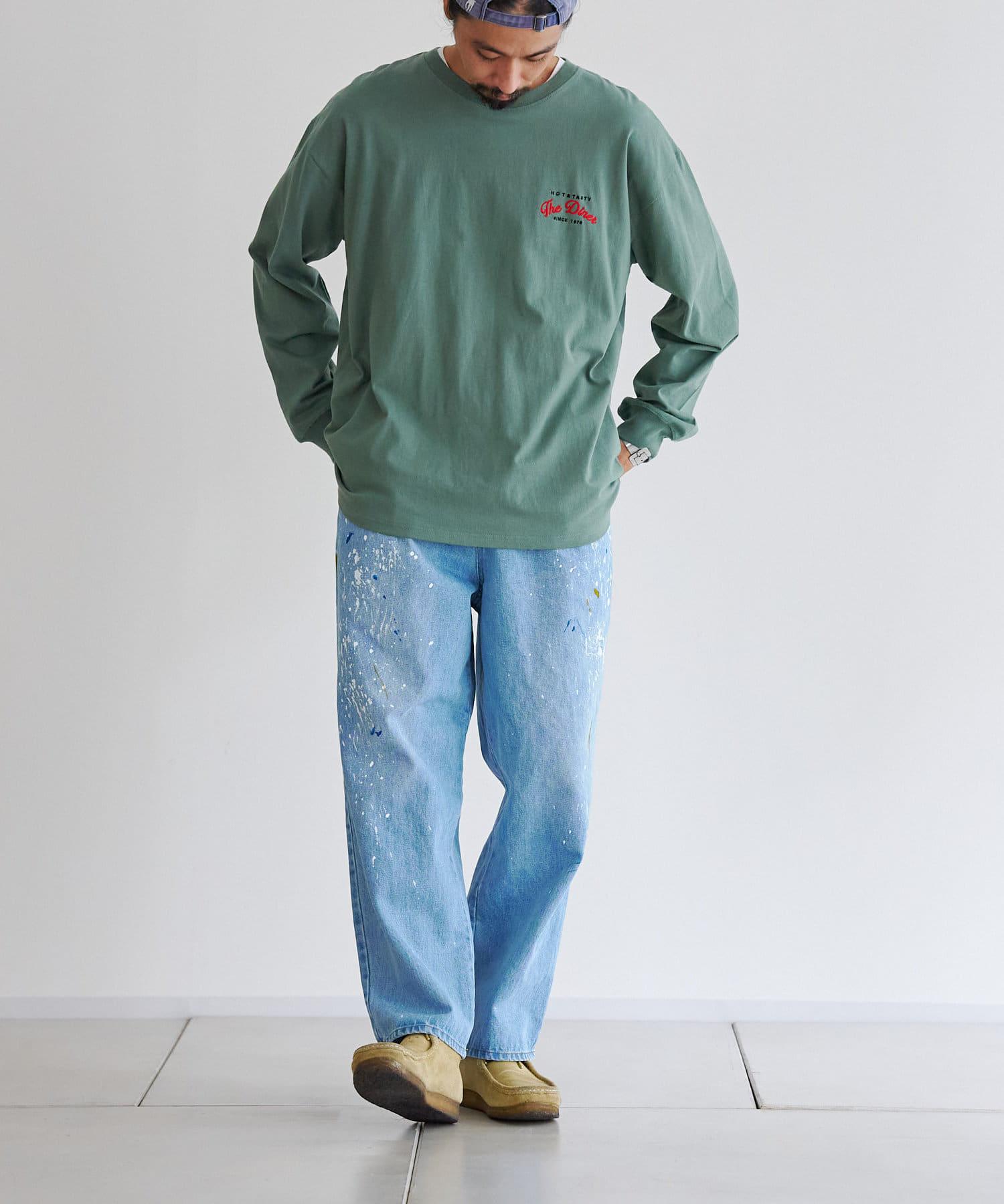 CPCM(シーピーシーエム) バックBURGER刺繍ロンT