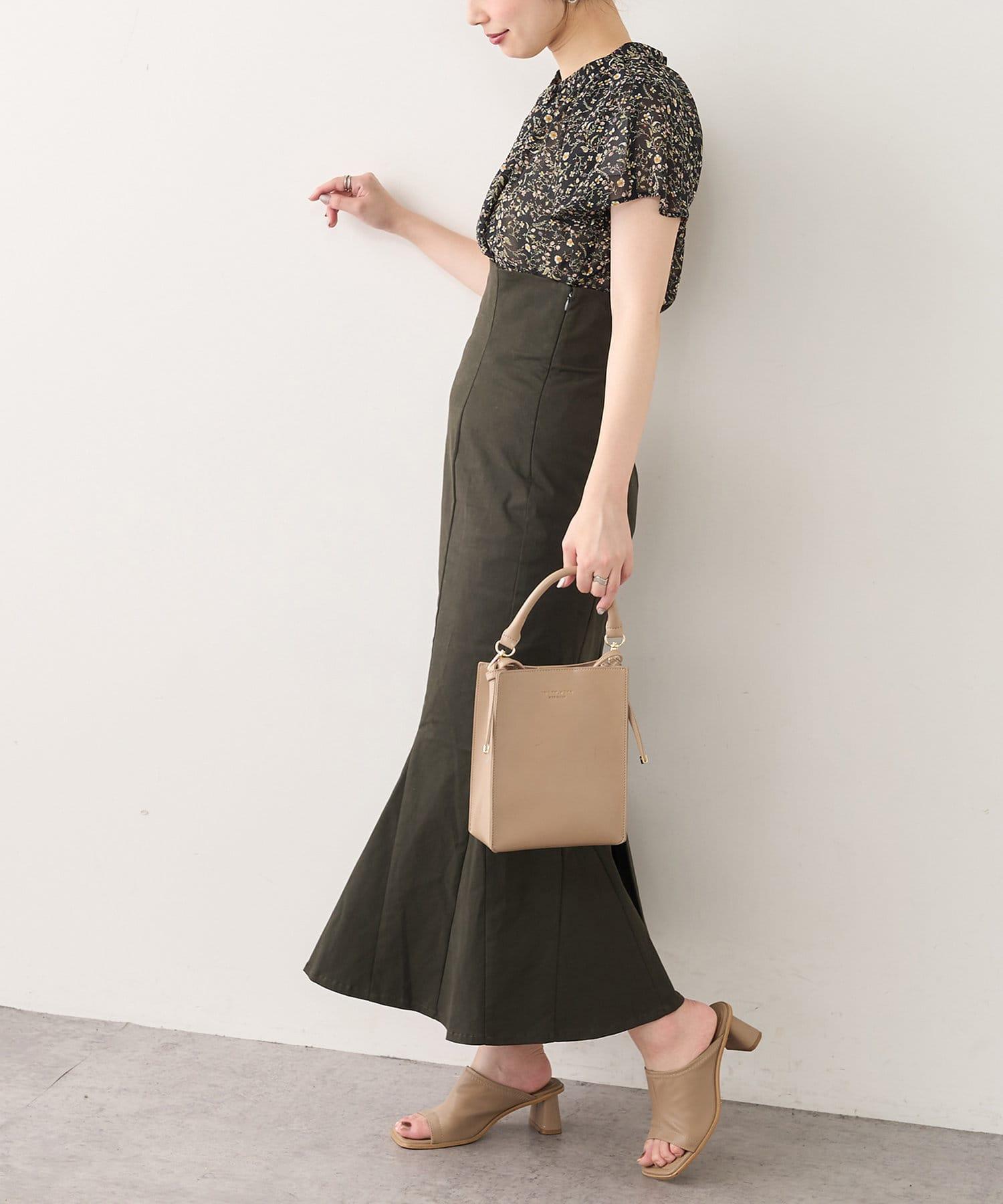 natural couture(ナチュラルクチュール) 【WEB限定】センタータックフレアスリーブギャザーブラウス