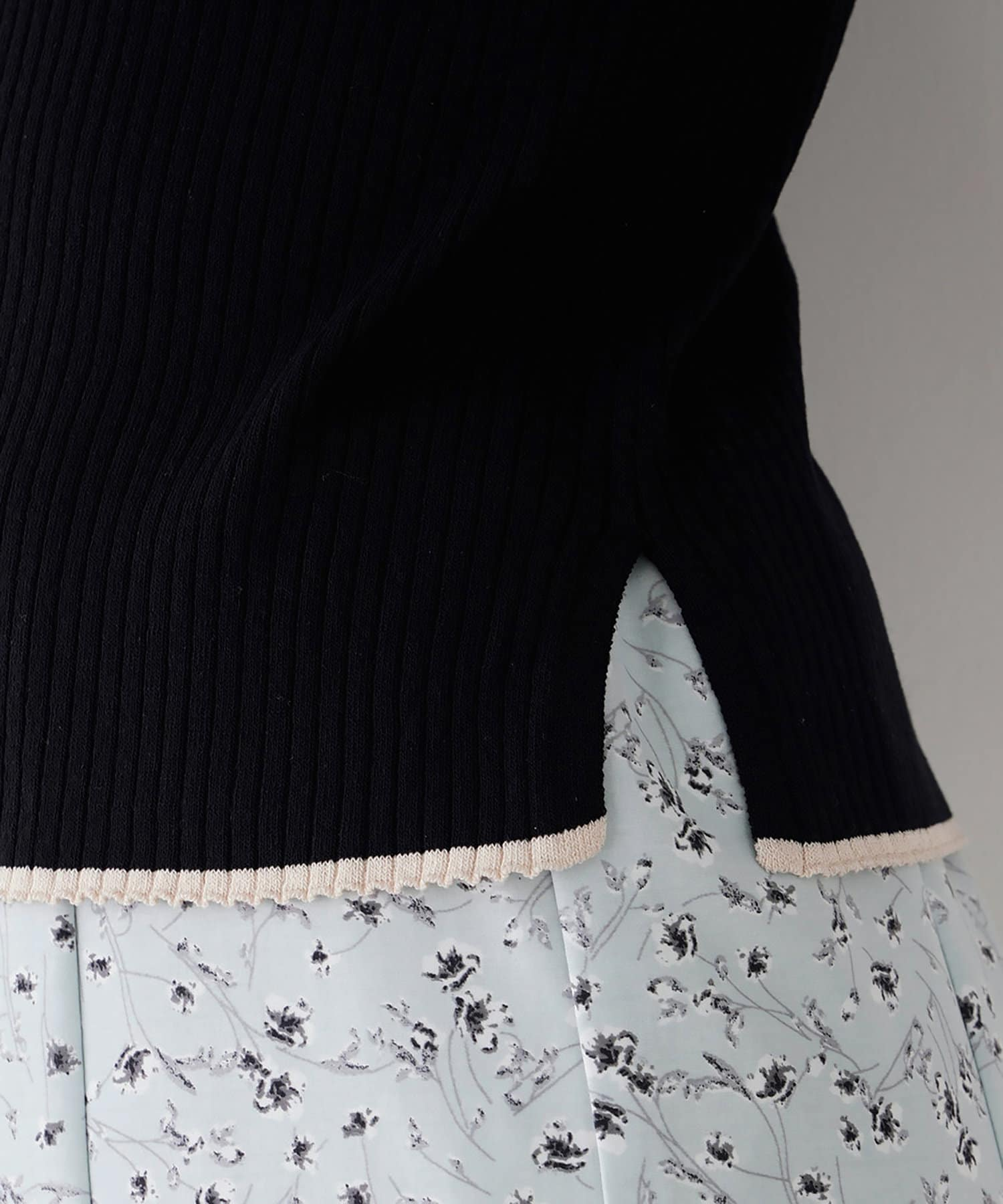 natural couture(ナチュラルクチュール) バイカラーリブニット
