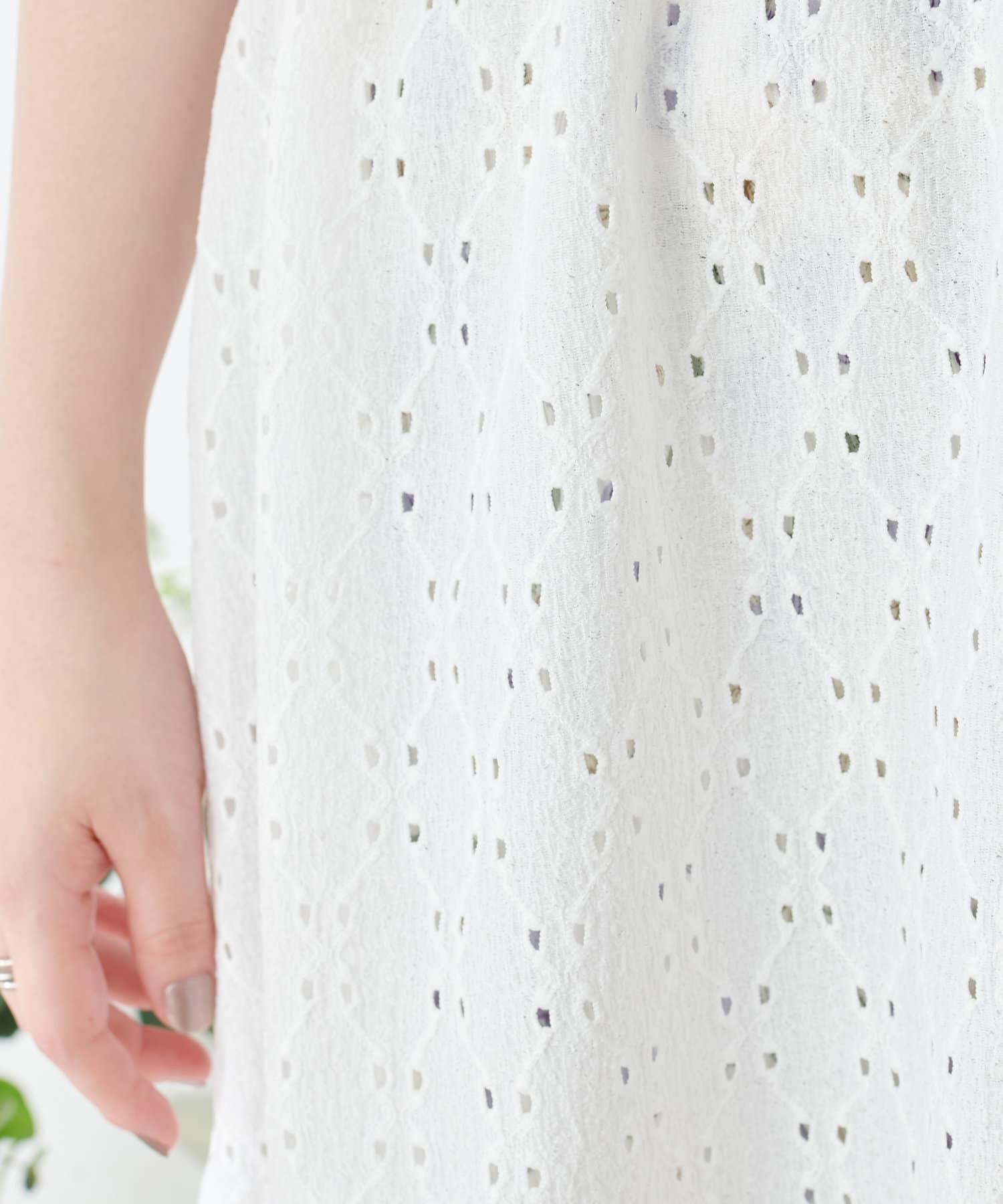 natural couture(ナチュラルクチュール) 【おうちナチュ】カシュクールカットレースチュニック