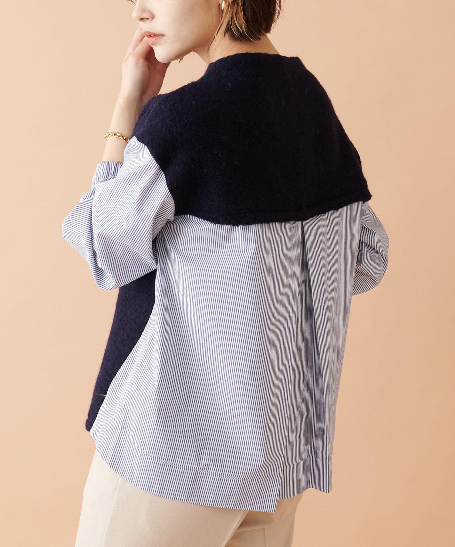 COLLAGE GALLARDAGALANTE(コラージュ ガリャルダガランテ) ☆COLLAGE定番☆ニットシャツコンビプルオーバー