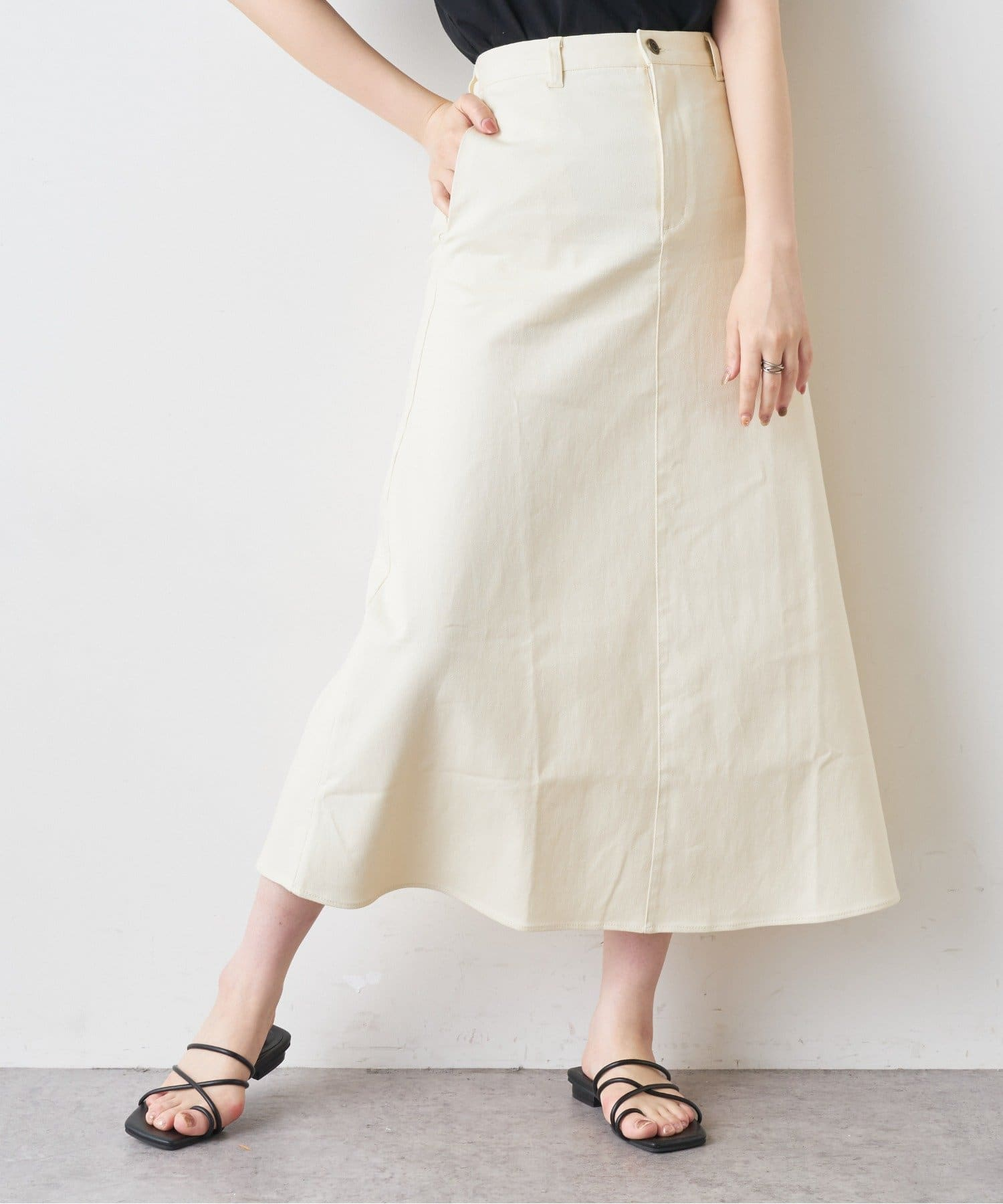 NICE CLAUP OUTLET(ナイスクラップ アウトレット) 【natural couture】ストレッチデニムロングスカート