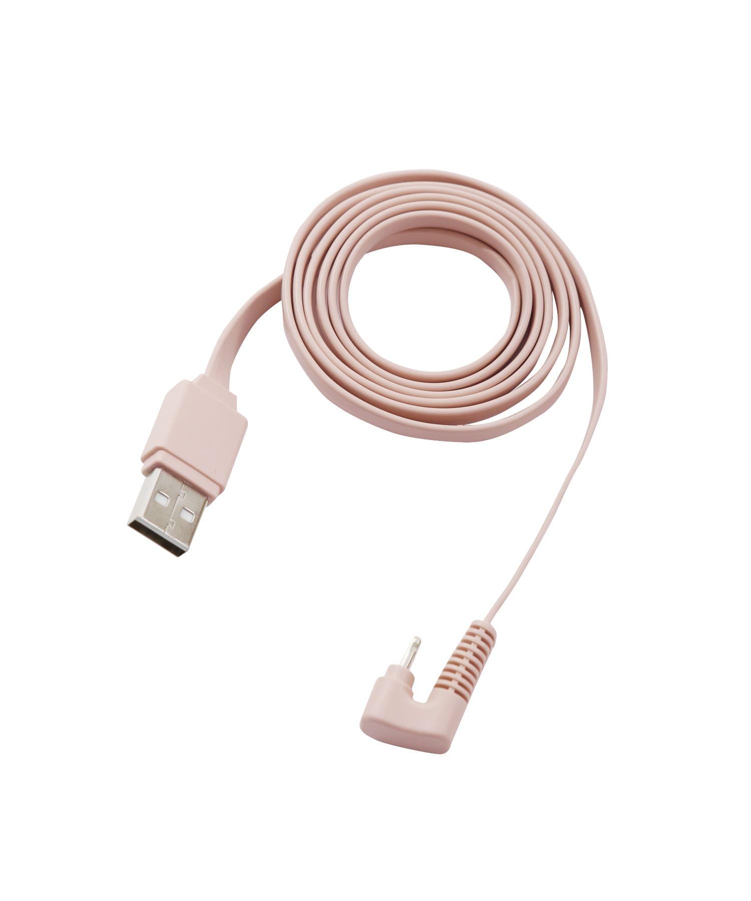3COINS(スリーコインズ) ライフスタイル 【丈夫でしなやか】U字ライトニング用+マイクロUSB用ケーブル ピンク