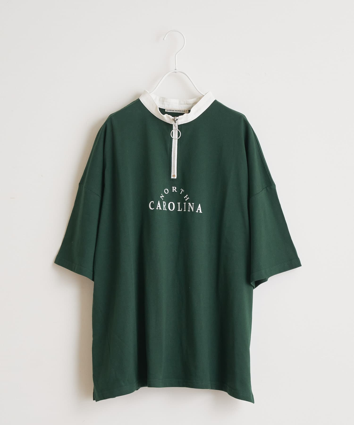 NICE CLAUP OUTLET(ナイスクラップ アウトレット) ハーフZIP T