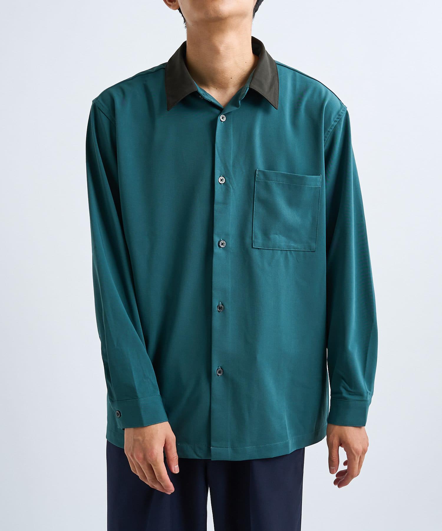 CIAOPANIC(チャオパニック) 襟切り替えデザインドレープシャツ