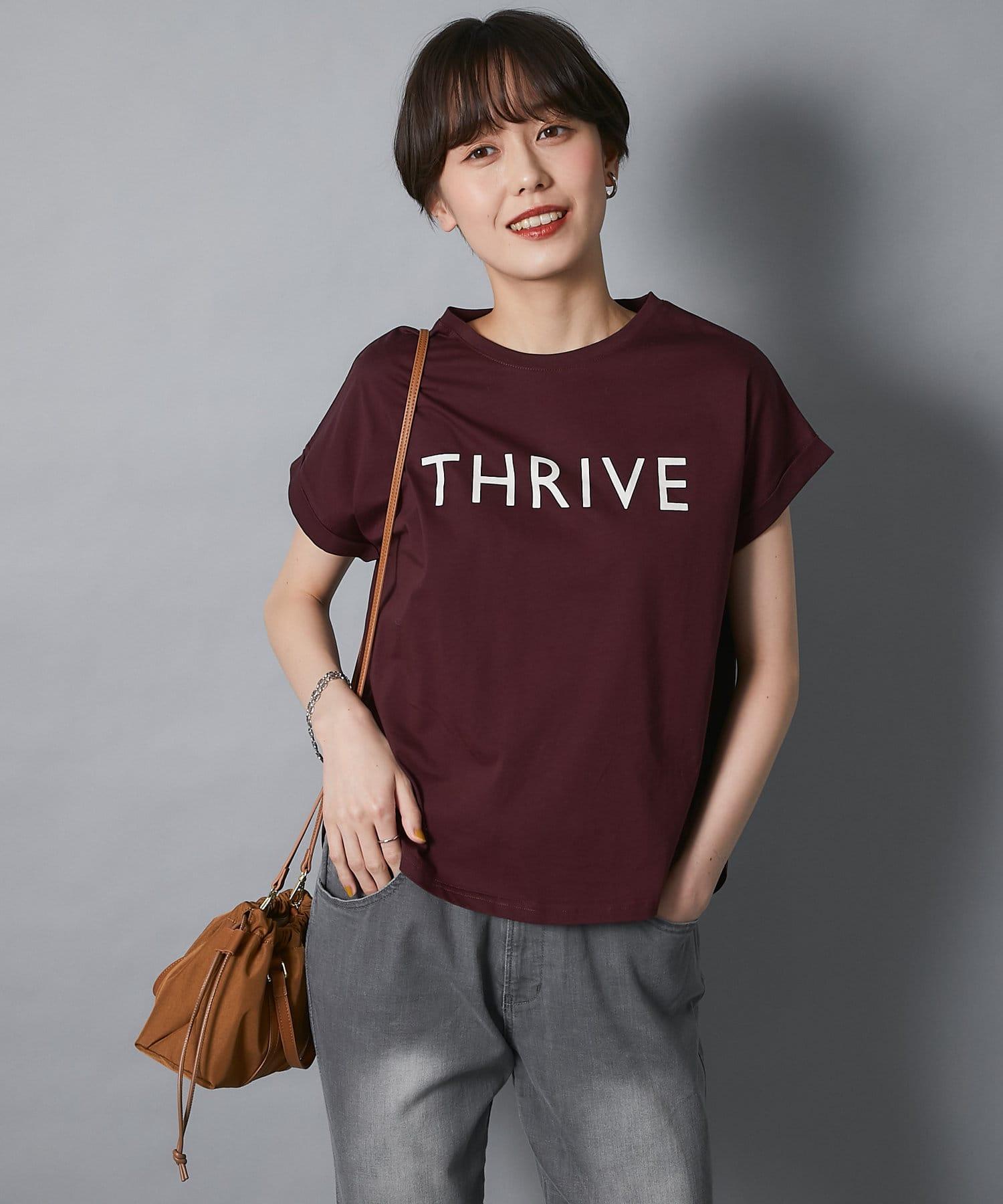 un dix cors(アンディコール) 【大人カジュアルな着こなしに最適】THRIVEプリントTシャツ
