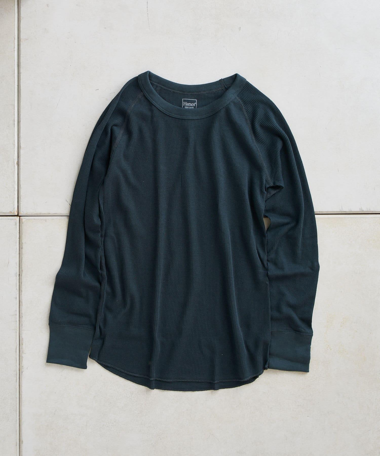 TERRITOIRE(テリトワール) 【Hanes/ヘインズ】サーマルクルーロングTシャツ