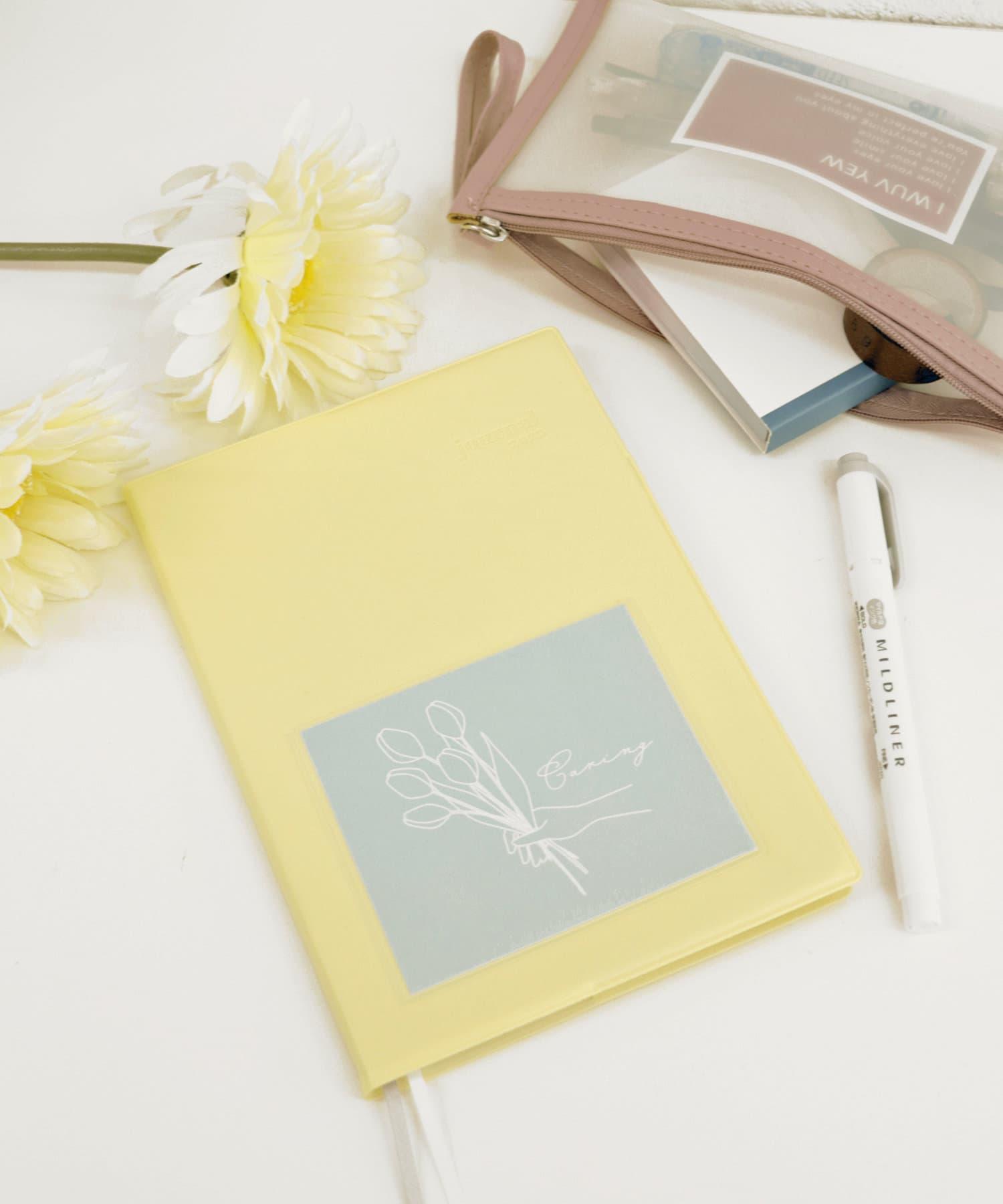 3COINS(スリーコインズ) ライフスタイル 【MY SCHEDULE】 B6サイズポケット付き手帳 イエロー