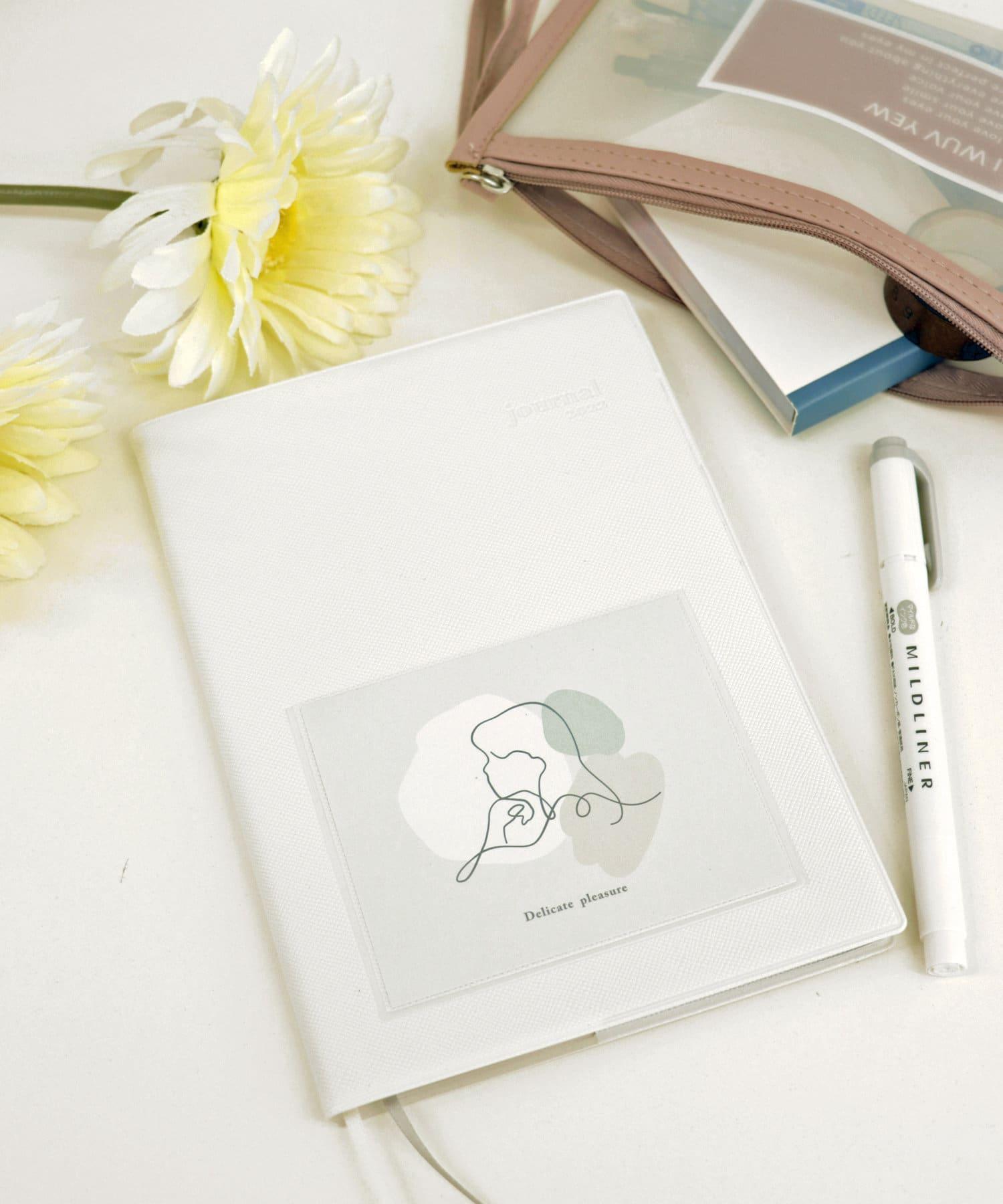 3COINS(スリーコインズ) ライフスタイル 【MY SCHEDULE】 B6サイズポケット付き手帳 ホワイト