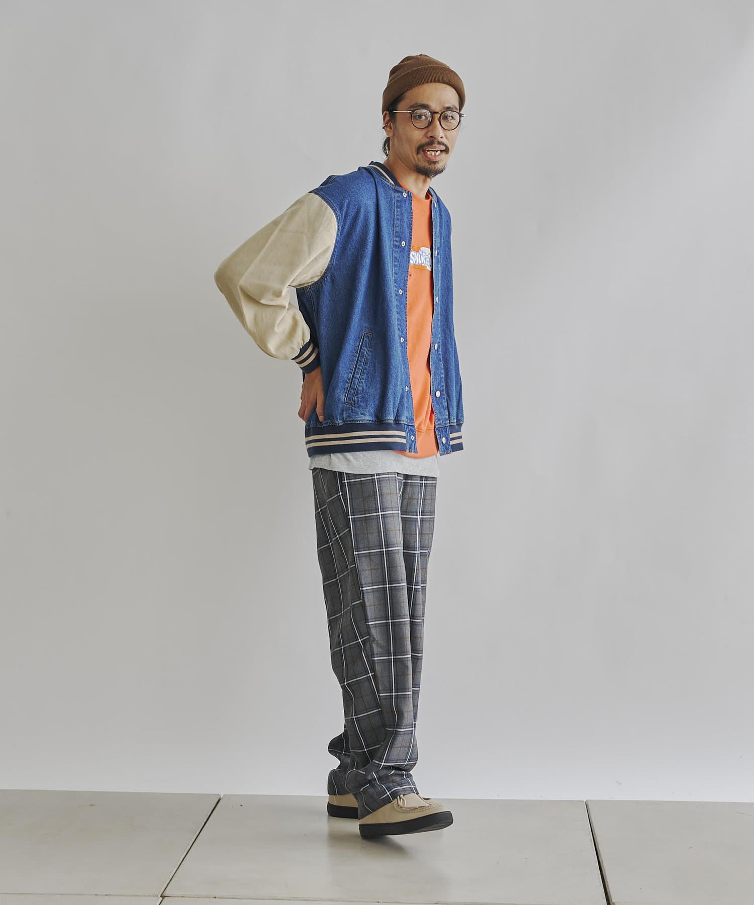 CPCM(シーピーシーエム) 袖切替デニムスタジャン