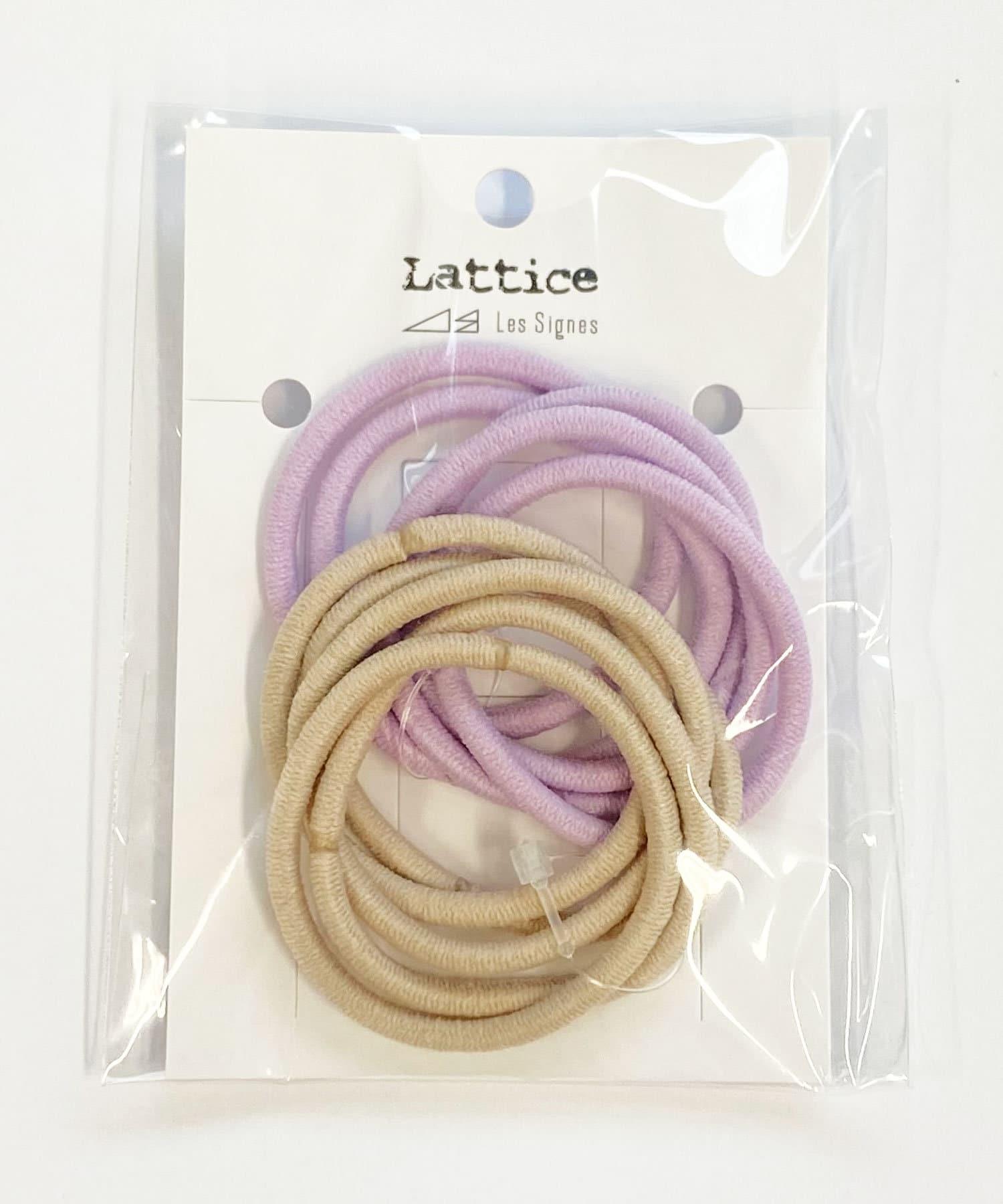 Lattice(ラティス) レディース カラーヘアゴム10本SET パープル