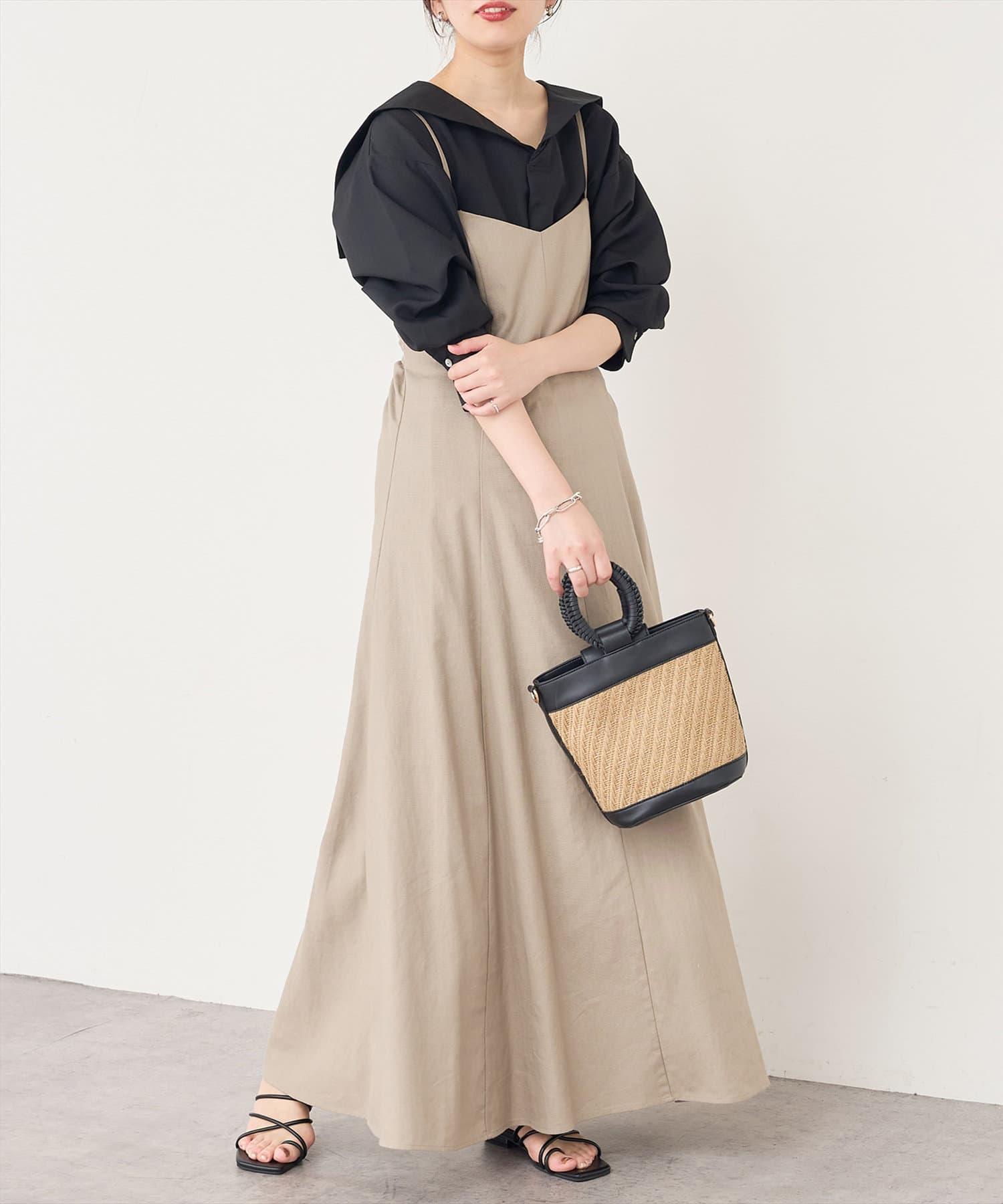 natural couture(ナチュラルクチュール) リネン混セーラーカラーブラウス
