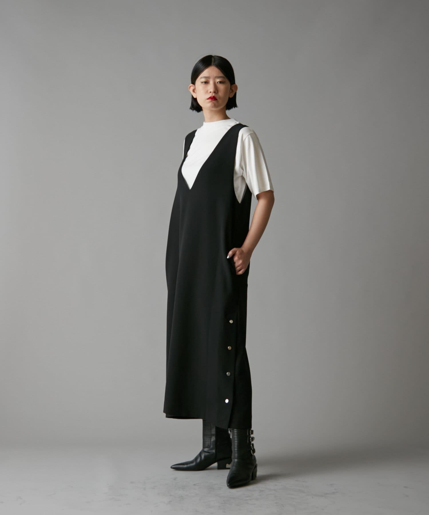 ear PAPILLONNER(イア パピヨネ) 【SUM1 STYLE】ボタンベスト風ワンピース