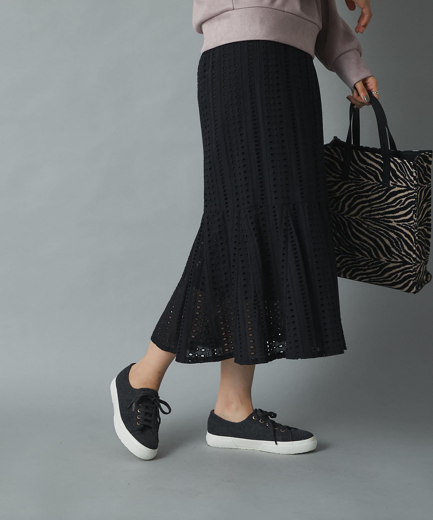 un dix cors(アンディコール) 【平野マユさん着用】レースマーメイド切替スカート