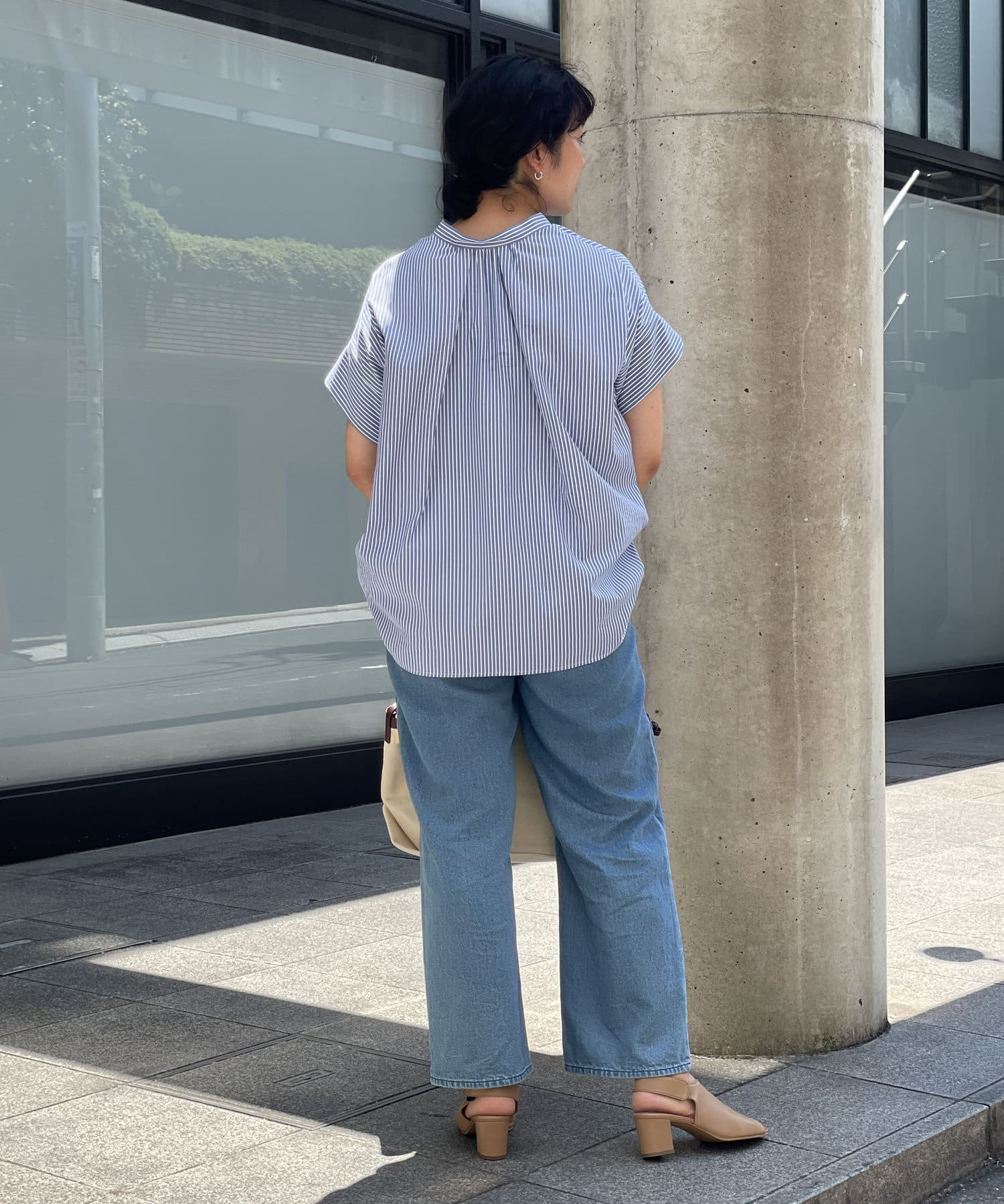 un dix cors(アンディコール) 【スッキリとした清涼感のある印象】ストライプスキッパーシャツ