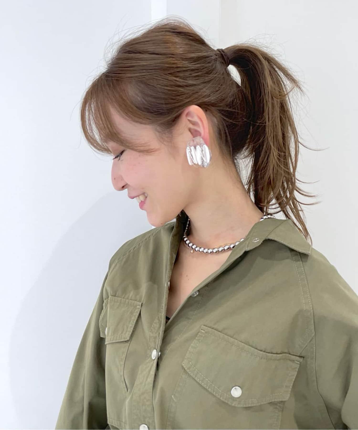 La boutique BonBon(ラブティックボンボン) 【洗練されたデザイン・HUI(ヒュイ)】ジグザグオーバルイヤリング