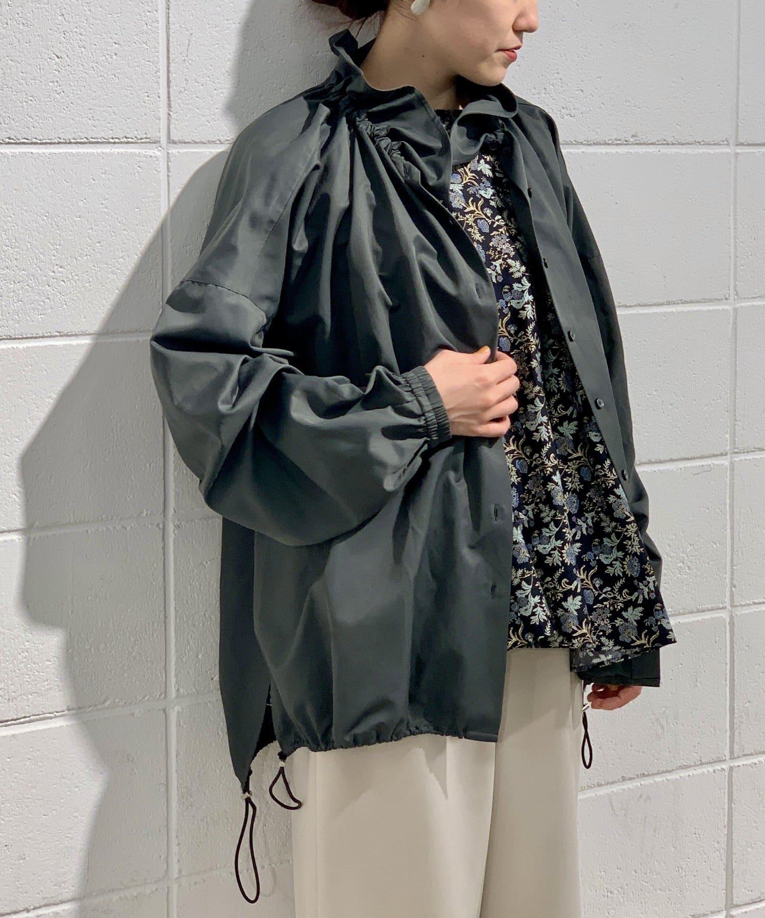 BEARDSLEY(ビアズリー) 衿ギャザーシャツブルゾン