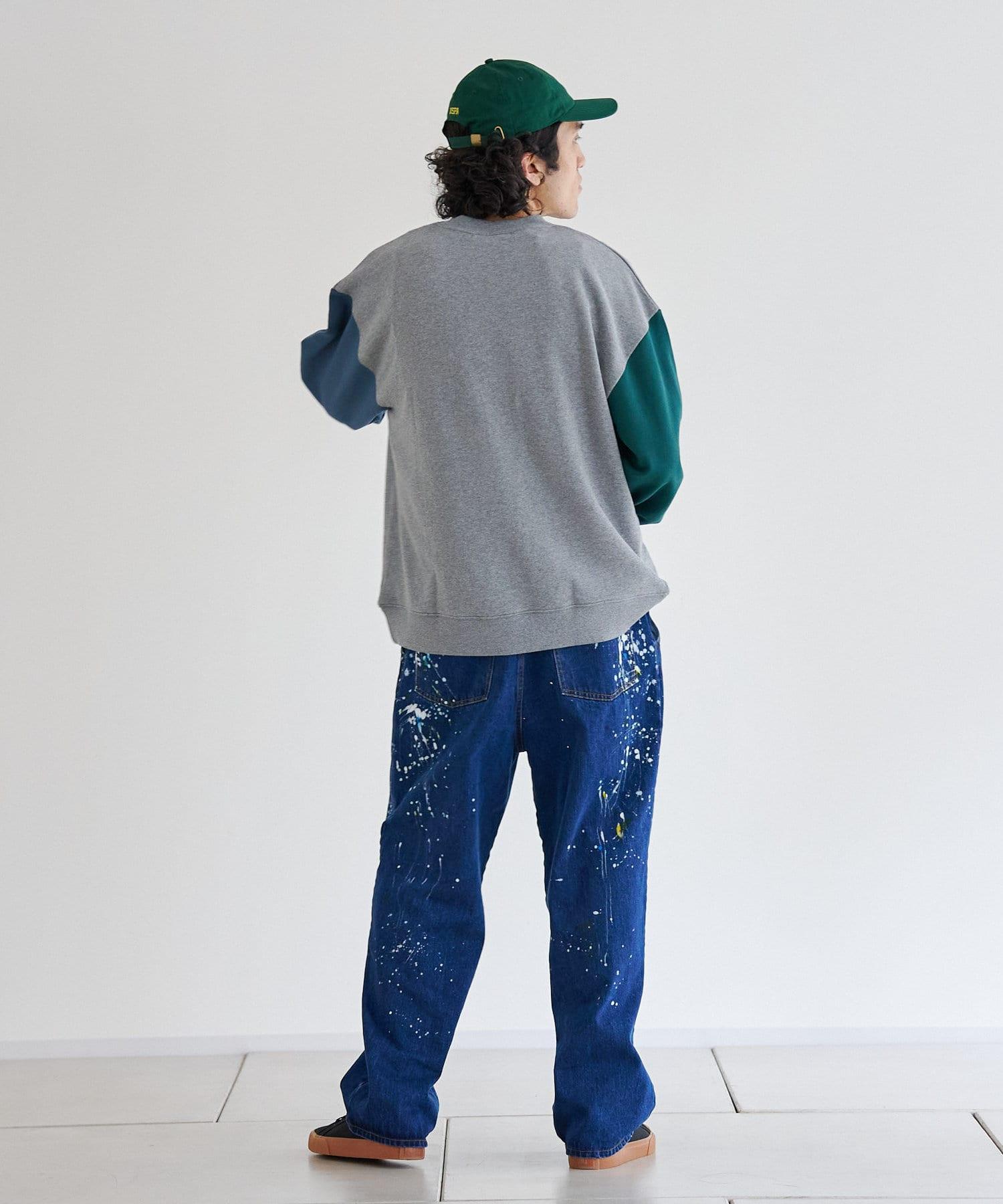 CPCM(シーピーシーエム) アップリケ刺繍カレッジ裏毛プルオーバー